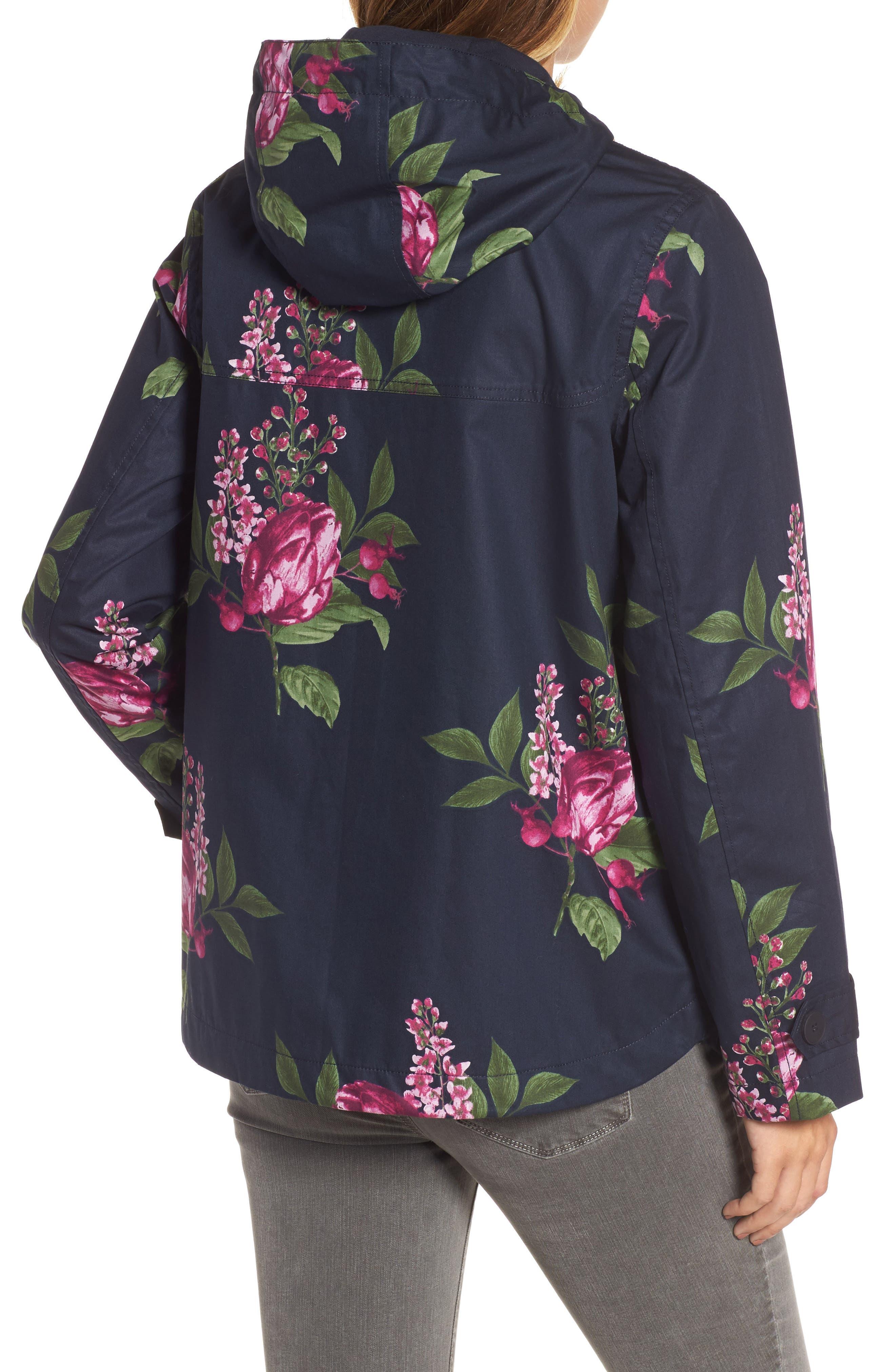 Alternate Image 2  - Joules Right as Rain Print Waterproof Hooded Jacket