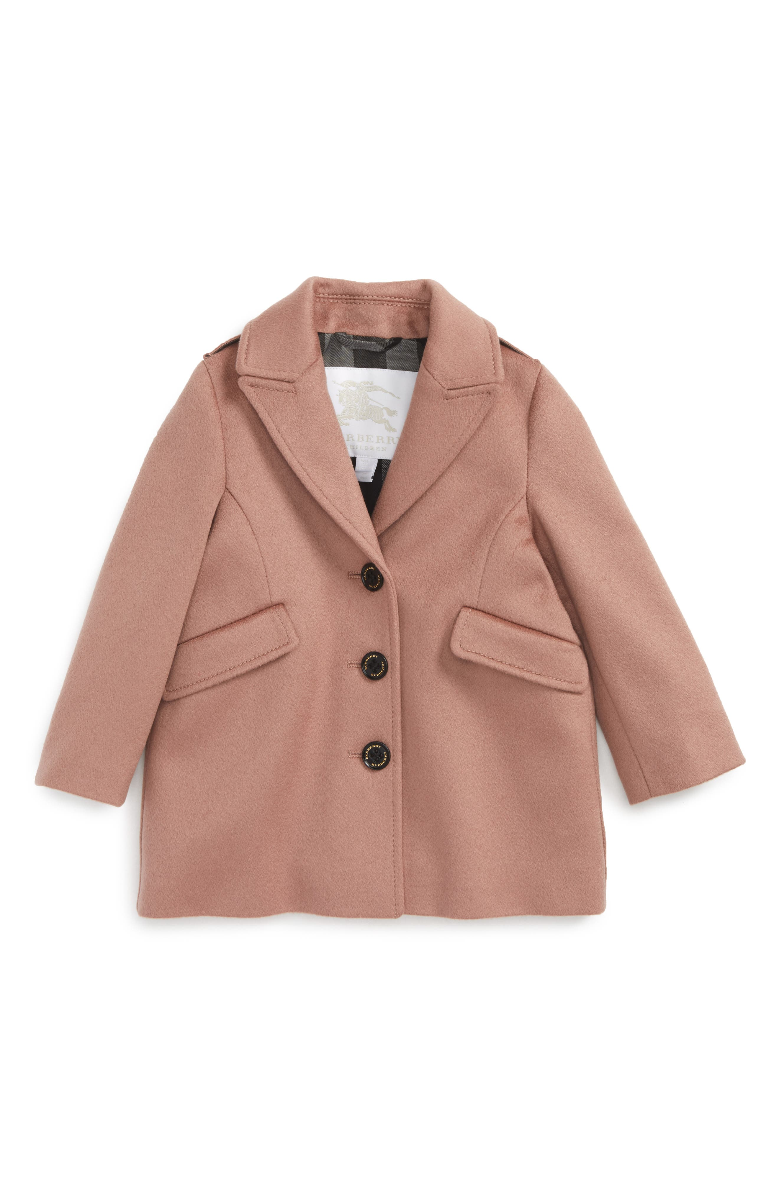 Mini Bridget Cashmere Coat,                             Main thumbnail 1, color,                             Antique Rose
