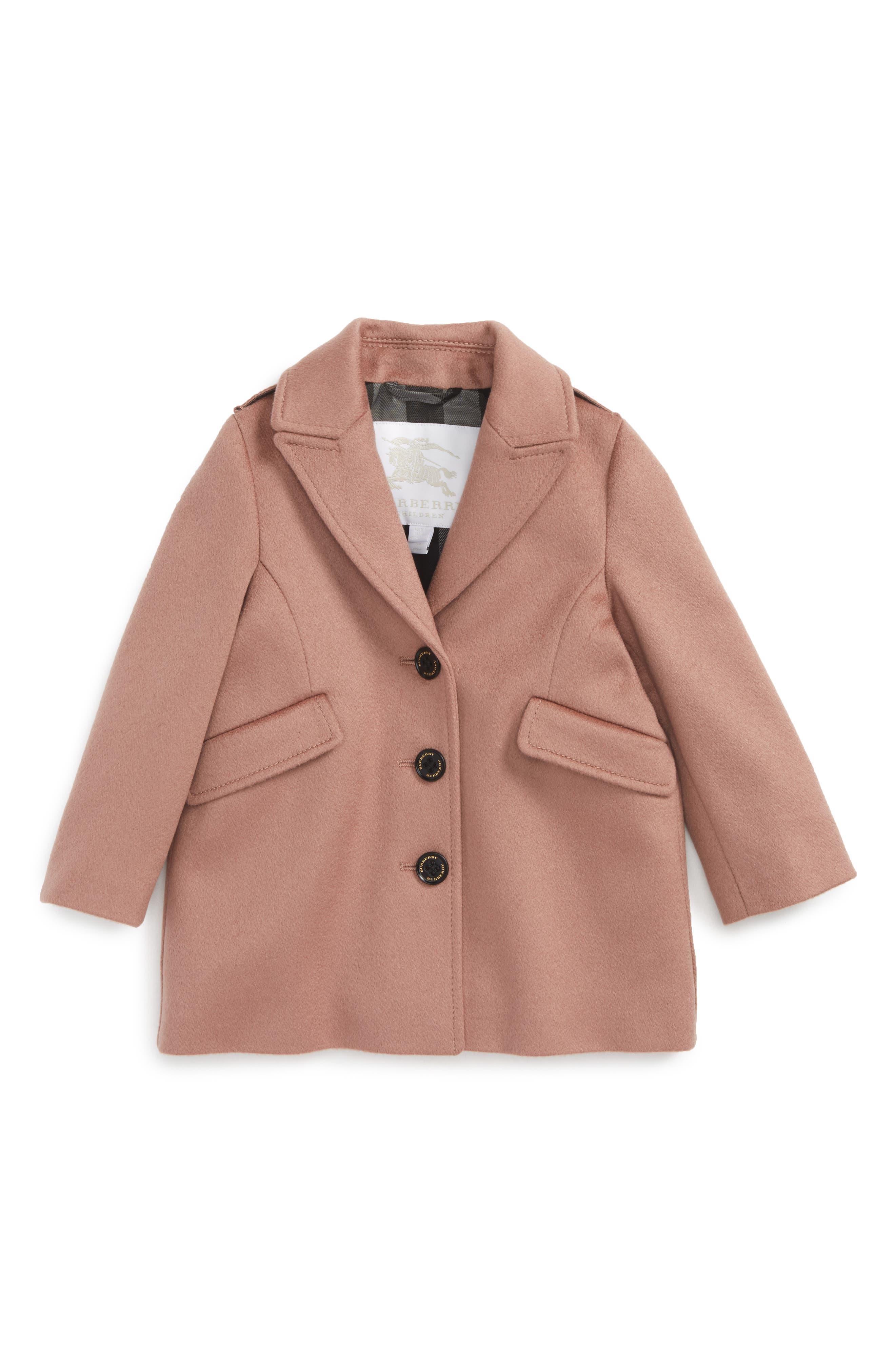 Main Image - Burberry Mini Bridget Cashmere Coat (Baby Girls)