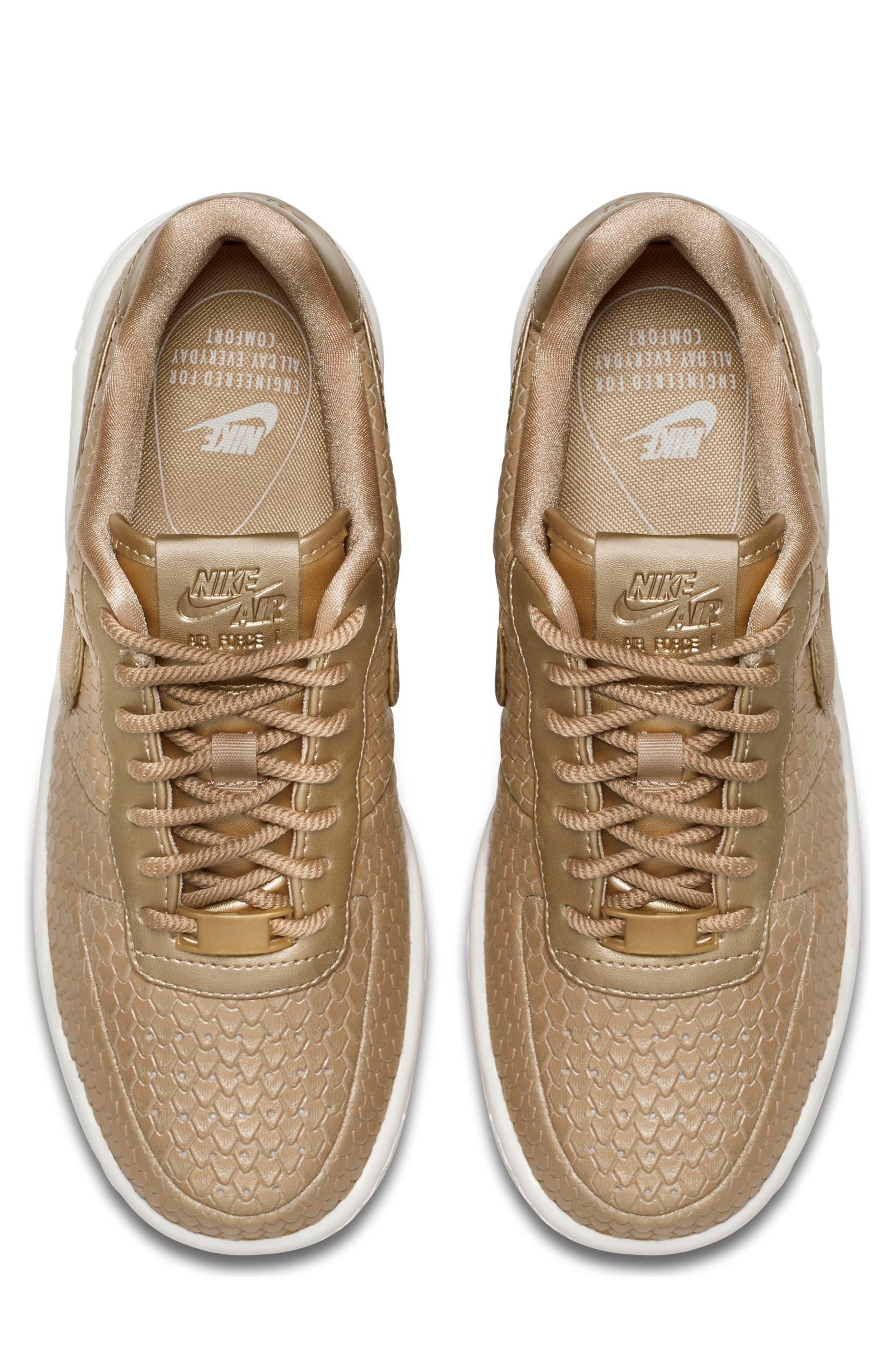 Air Force 1 Upstep Premium Platform Sneaker,                             Alternate thumbnail 3, color,                             Blur/ Blur/ Summit White
