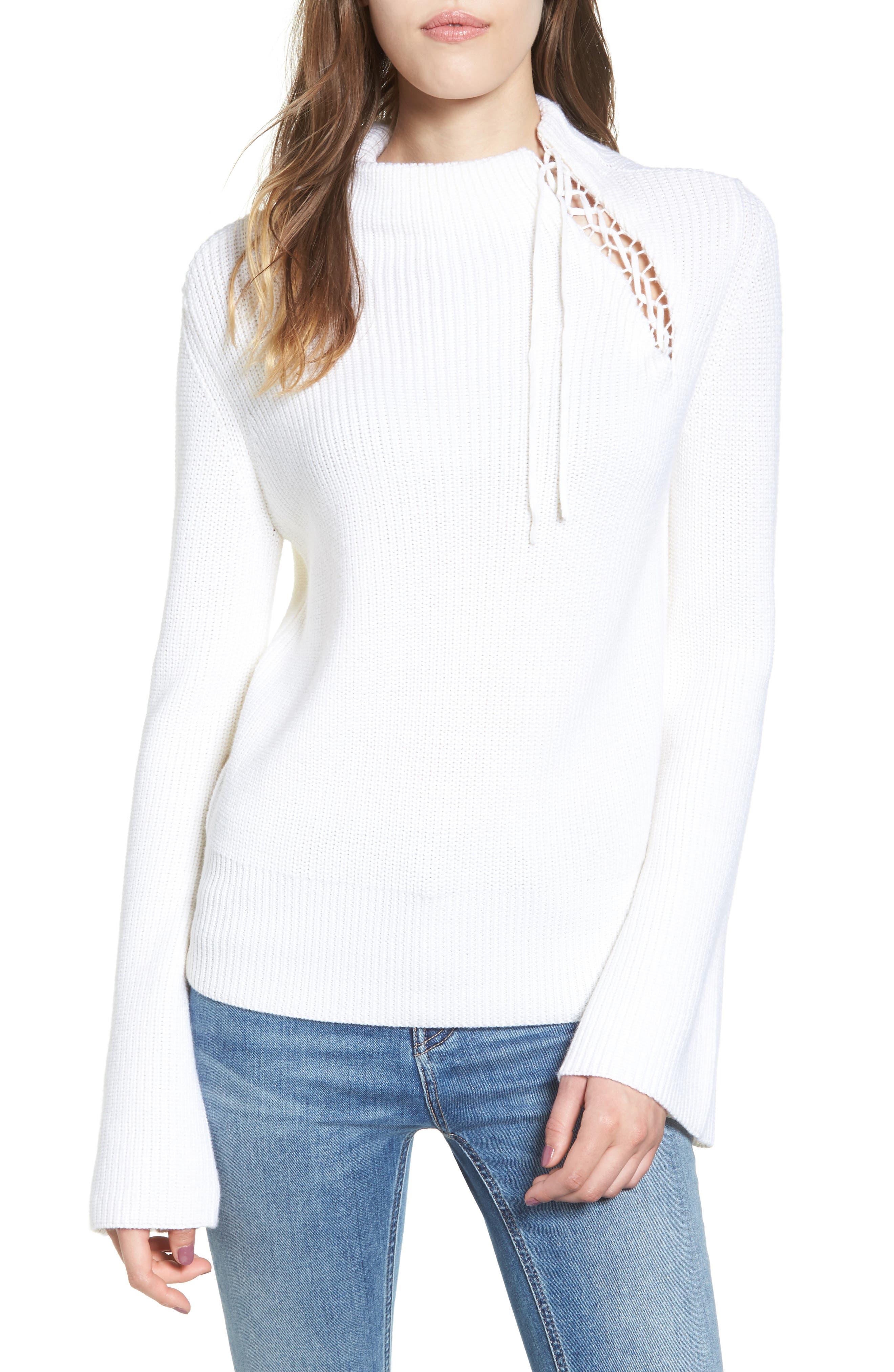 Main Image - Ella Moss Gracey Mock Neck Sweater