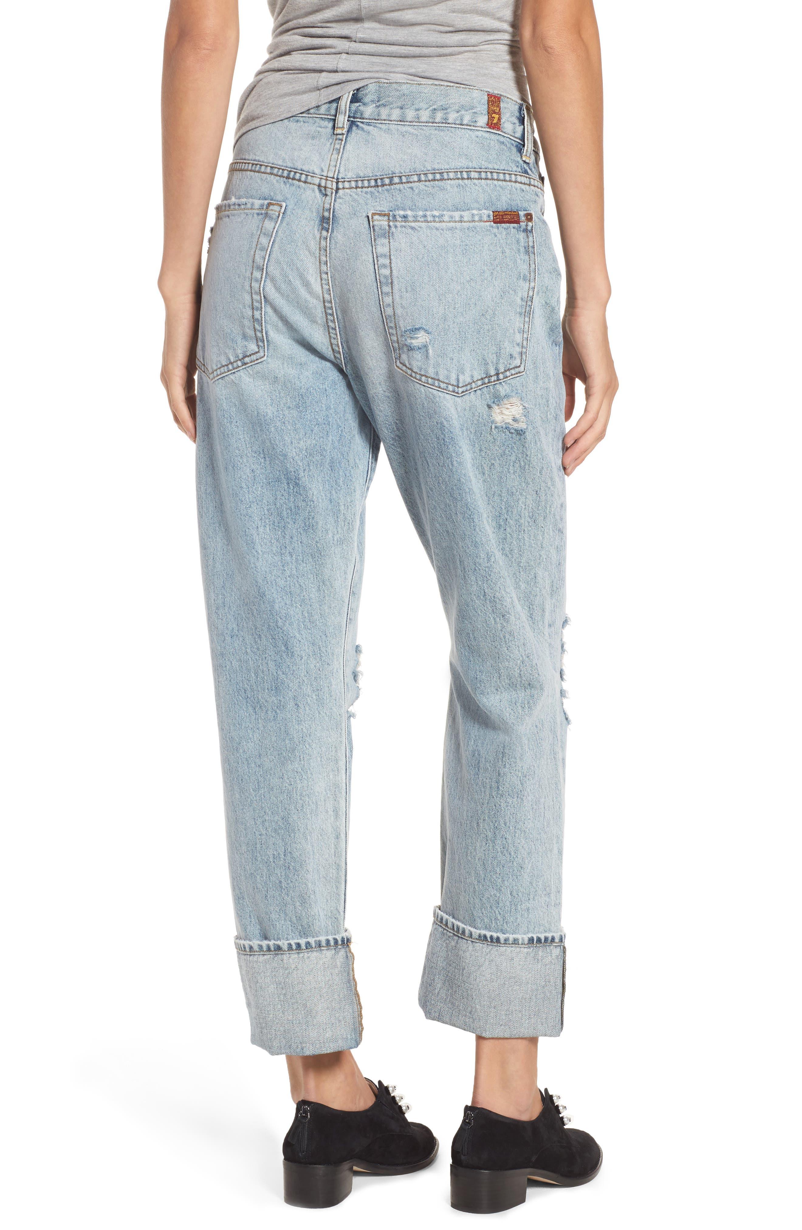 Rickie High Waist Boyfriend Jeans,                             Alternate thumbnail 3, color,                             Mineral Desert Springs 3