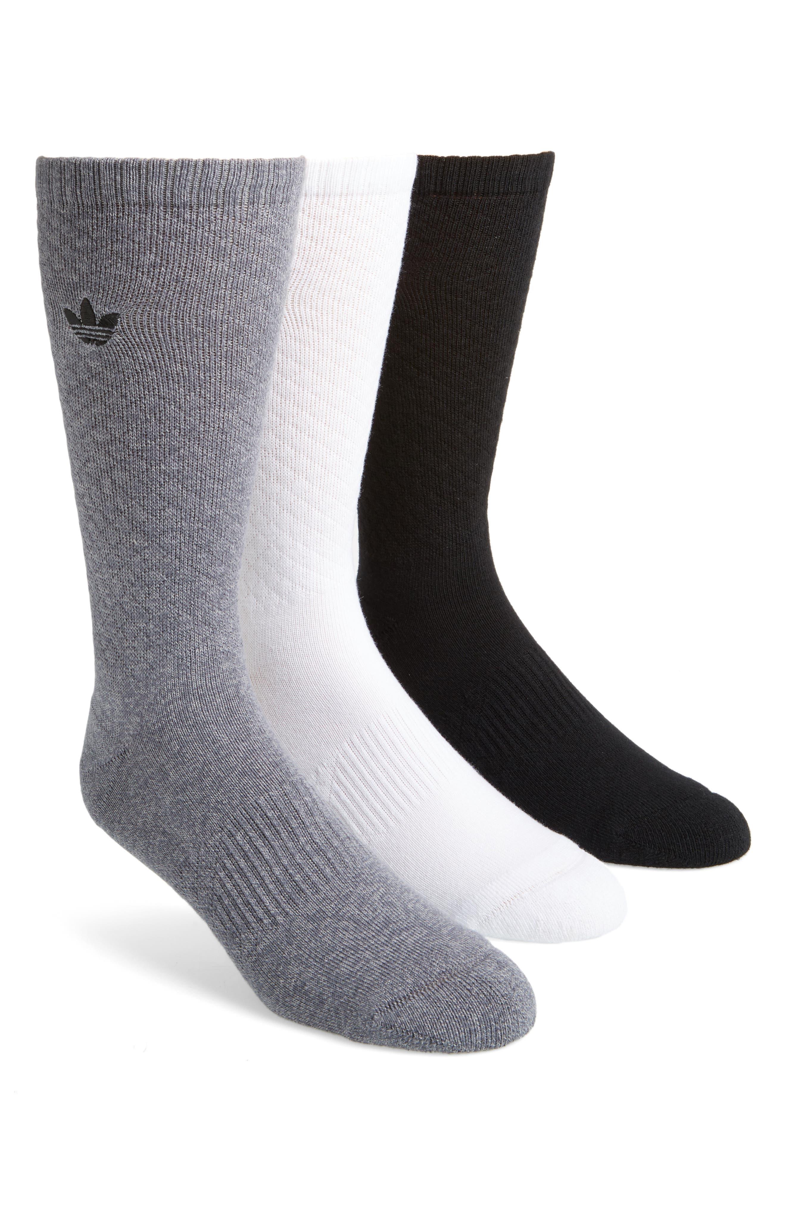 Alternate Image 1 Selected - adidas Originals 3-Pack Quilted Socks