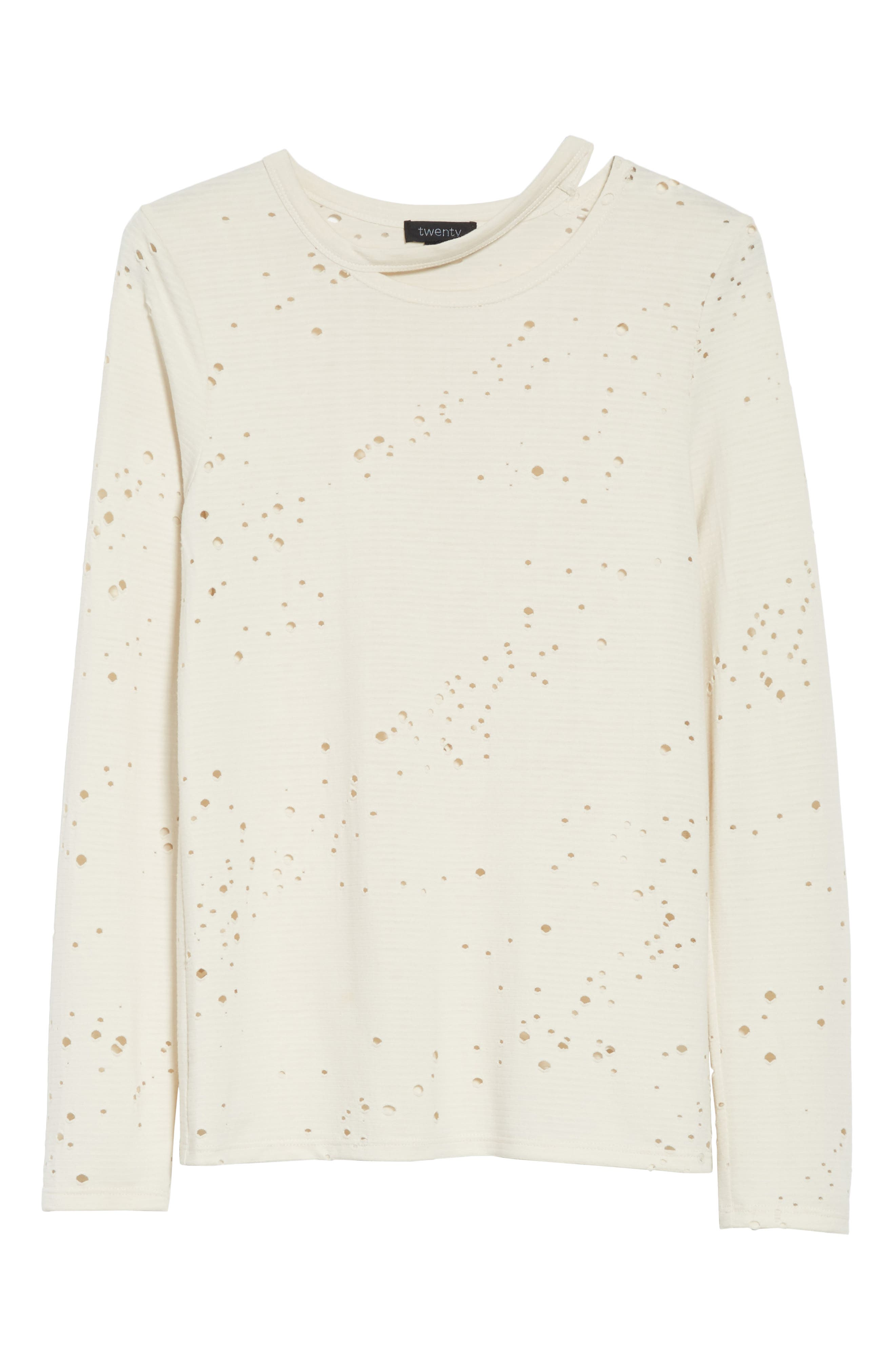Waverly Perforated Tee,                             Alternate thumbnail 6, color,                             Eggshell