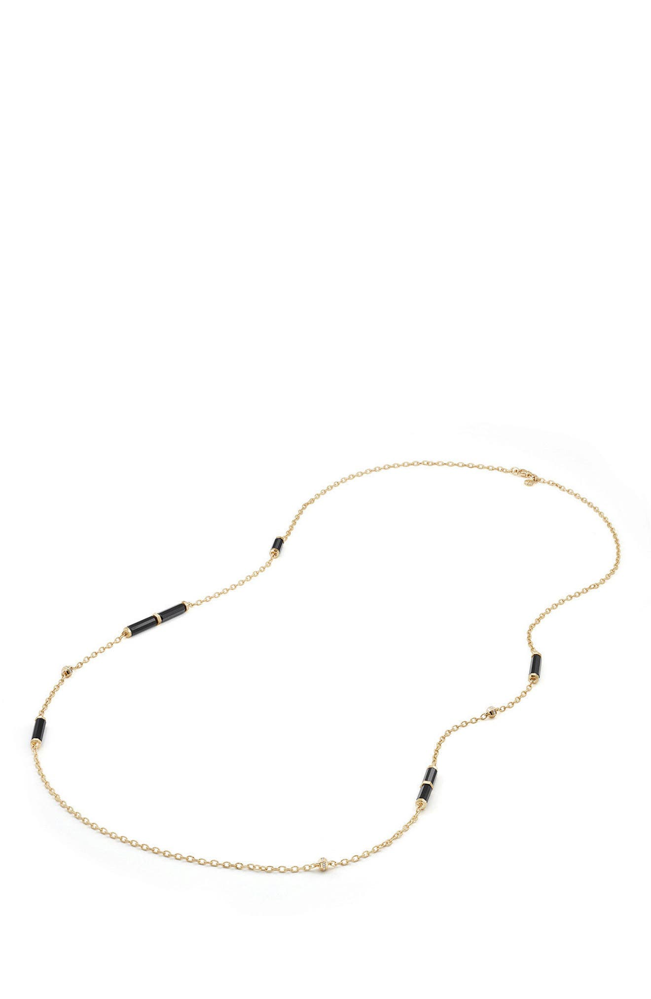 Alternate Image 3  - David Yurman Barrels Long Station Necklace with Diamonds