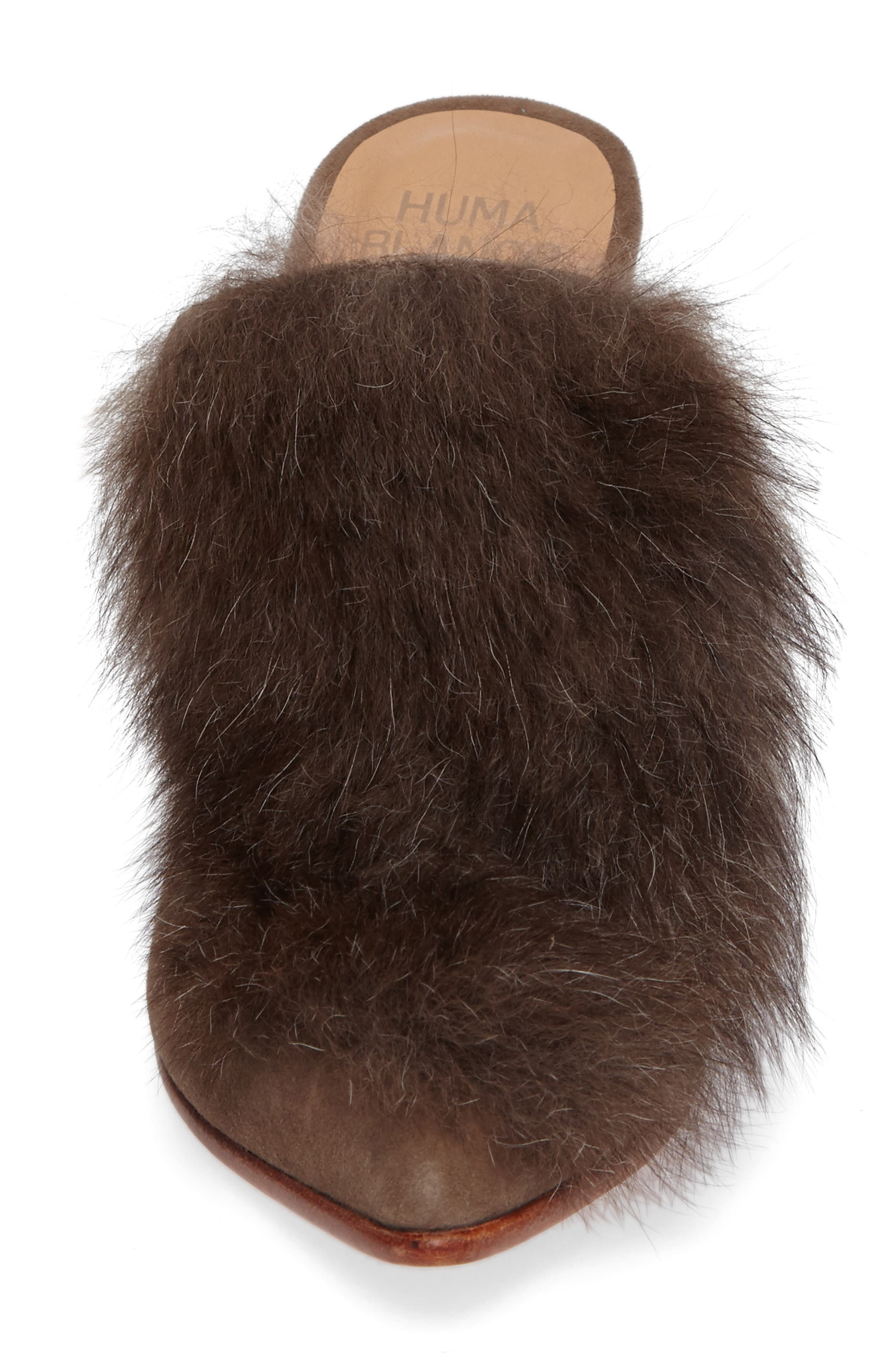 Alternate Image 4  - Huma Blanco Marietta Genuine Alpaca Hair Mule (Women)