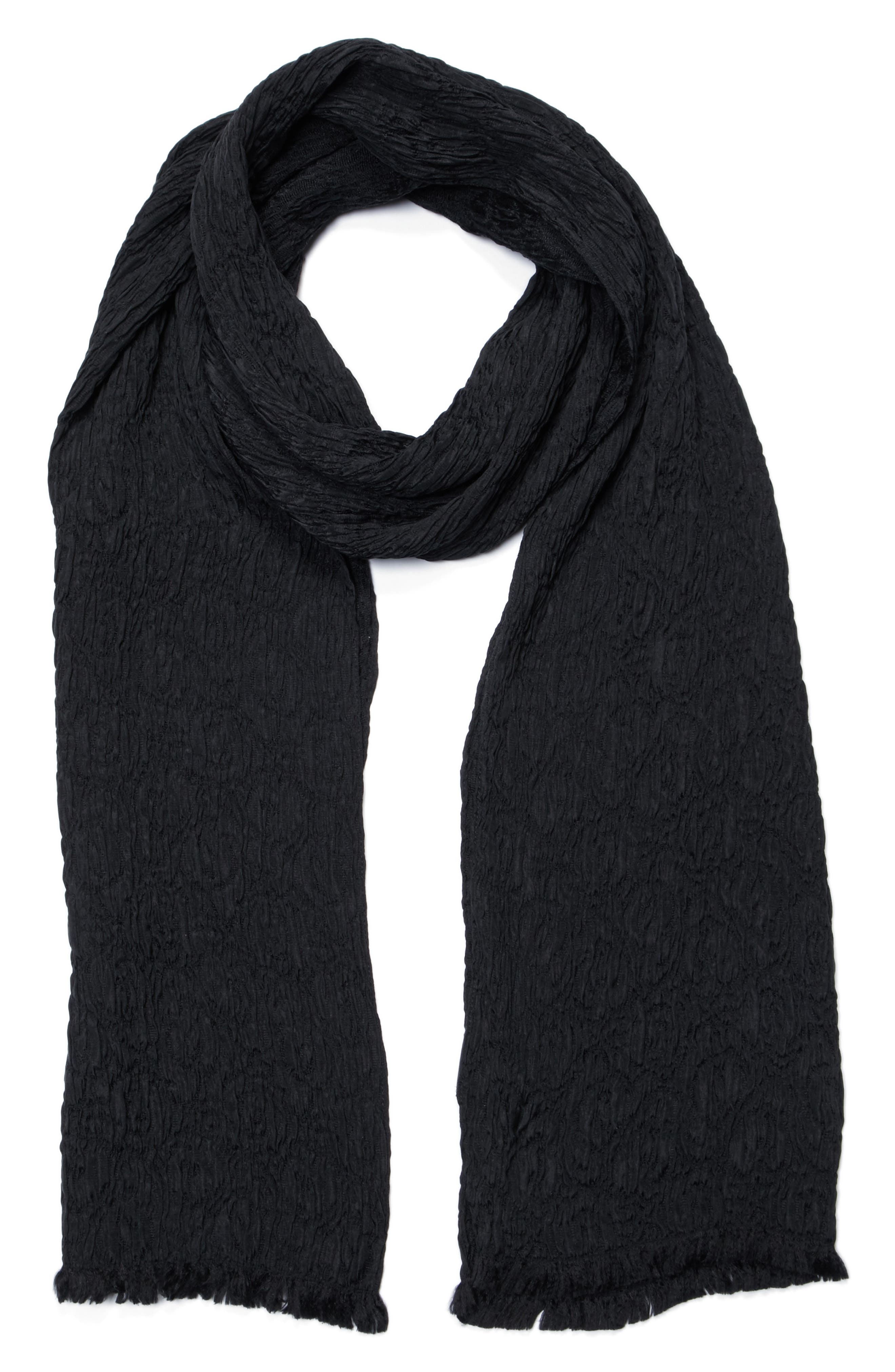 John Varvatos Collection Crinkled Wash Silk Scarf