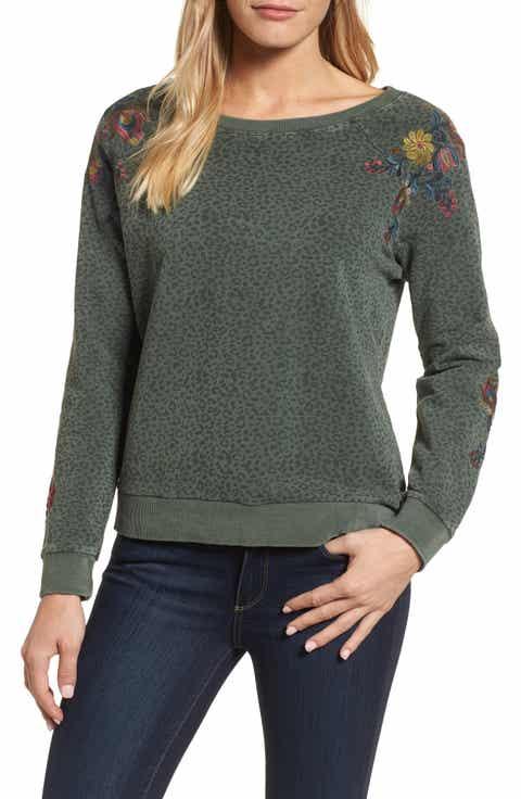 Billy T Animal Print Embroidered Sweatshirt