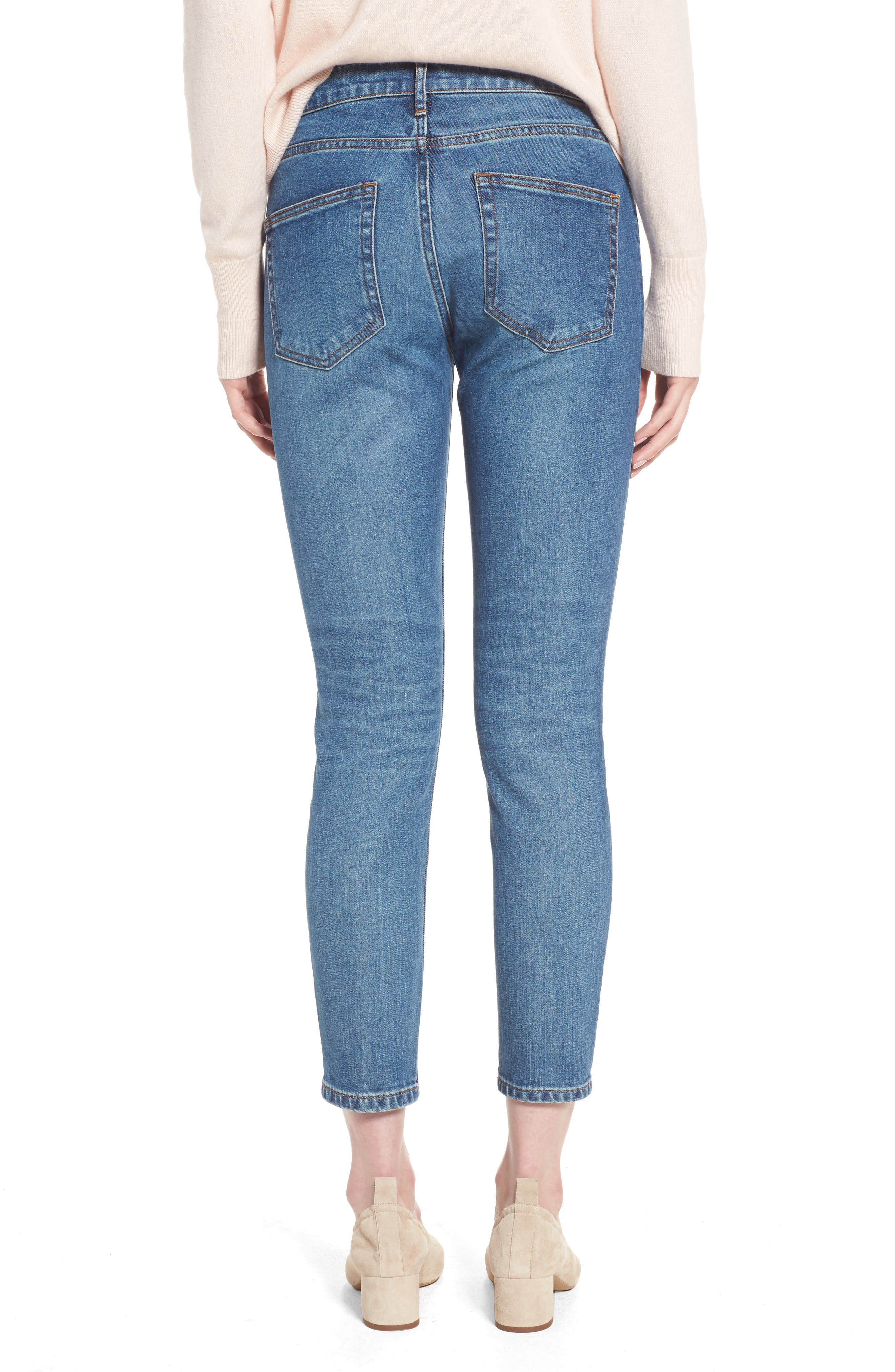 Alternate Image 2  - Everlane The Mid Rise Skinny Ankle Jeans