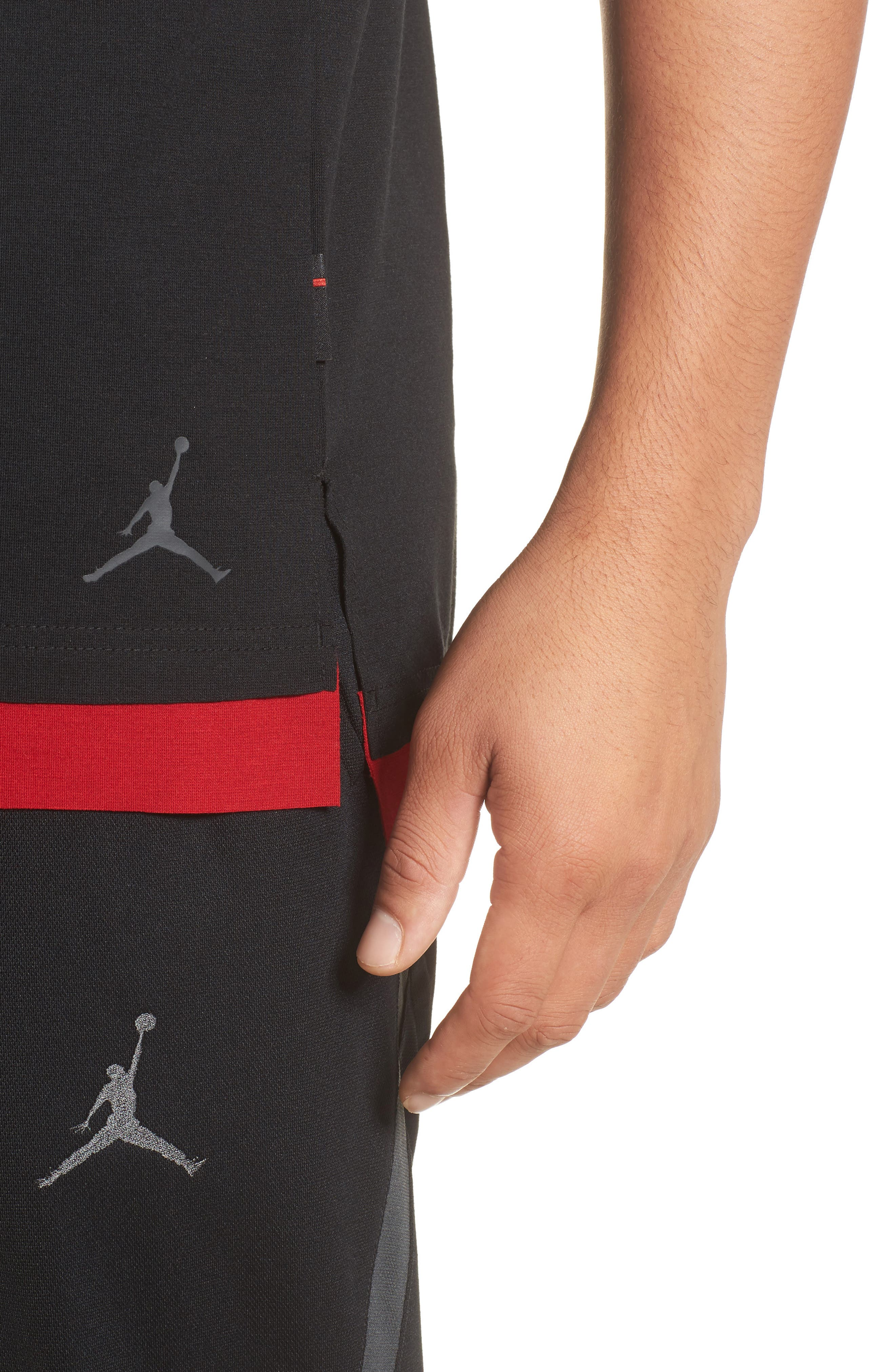 Sportswear Tech T-Shirt,                             Alternate thumbnail 4, color,                             Black/ Gym Red/ Anthracite