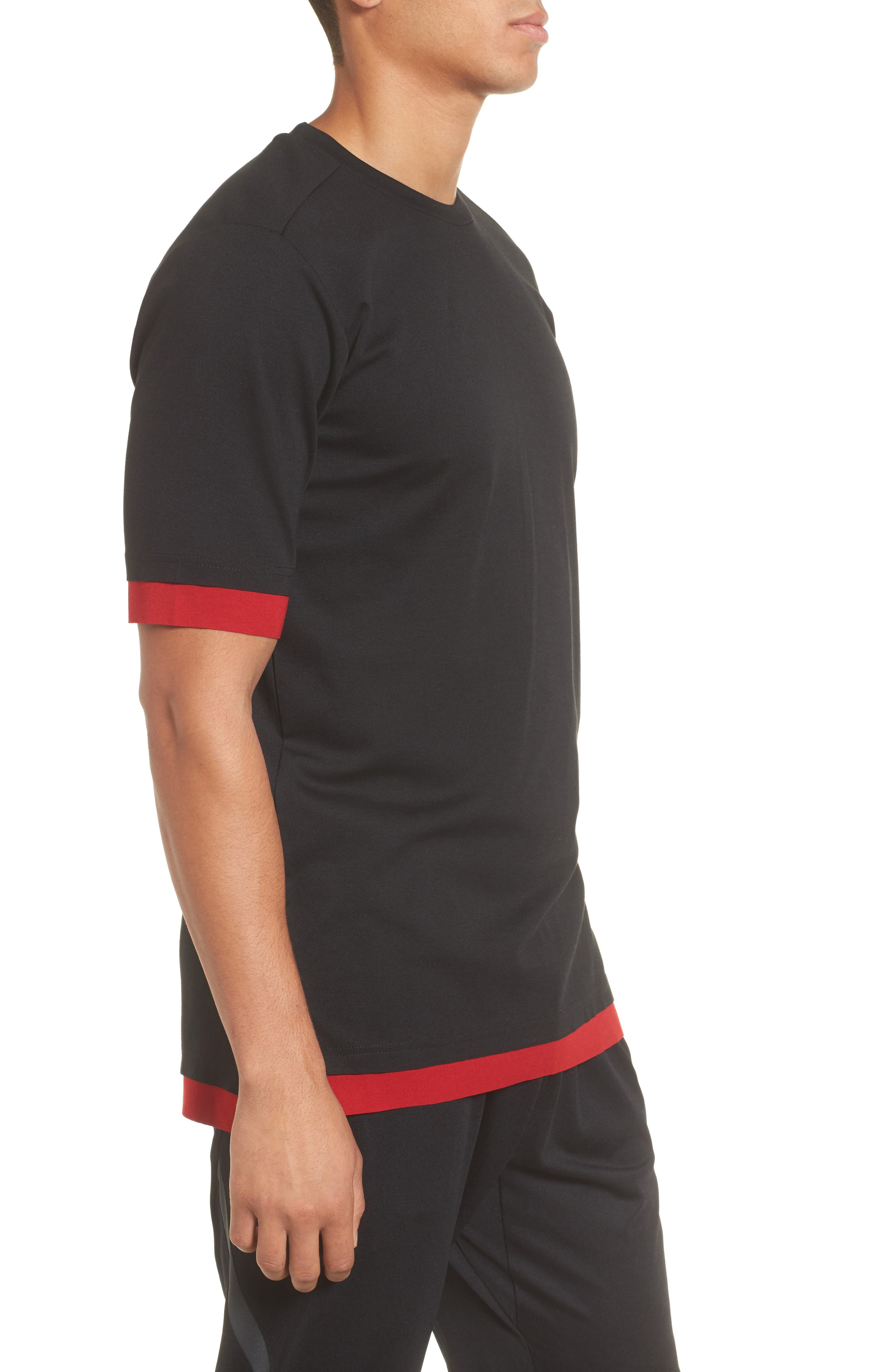 Sportswear Tech T-Shirt,                             Alternate thumbnail 3, color,                             Black/ Gym Red/ Anthracite