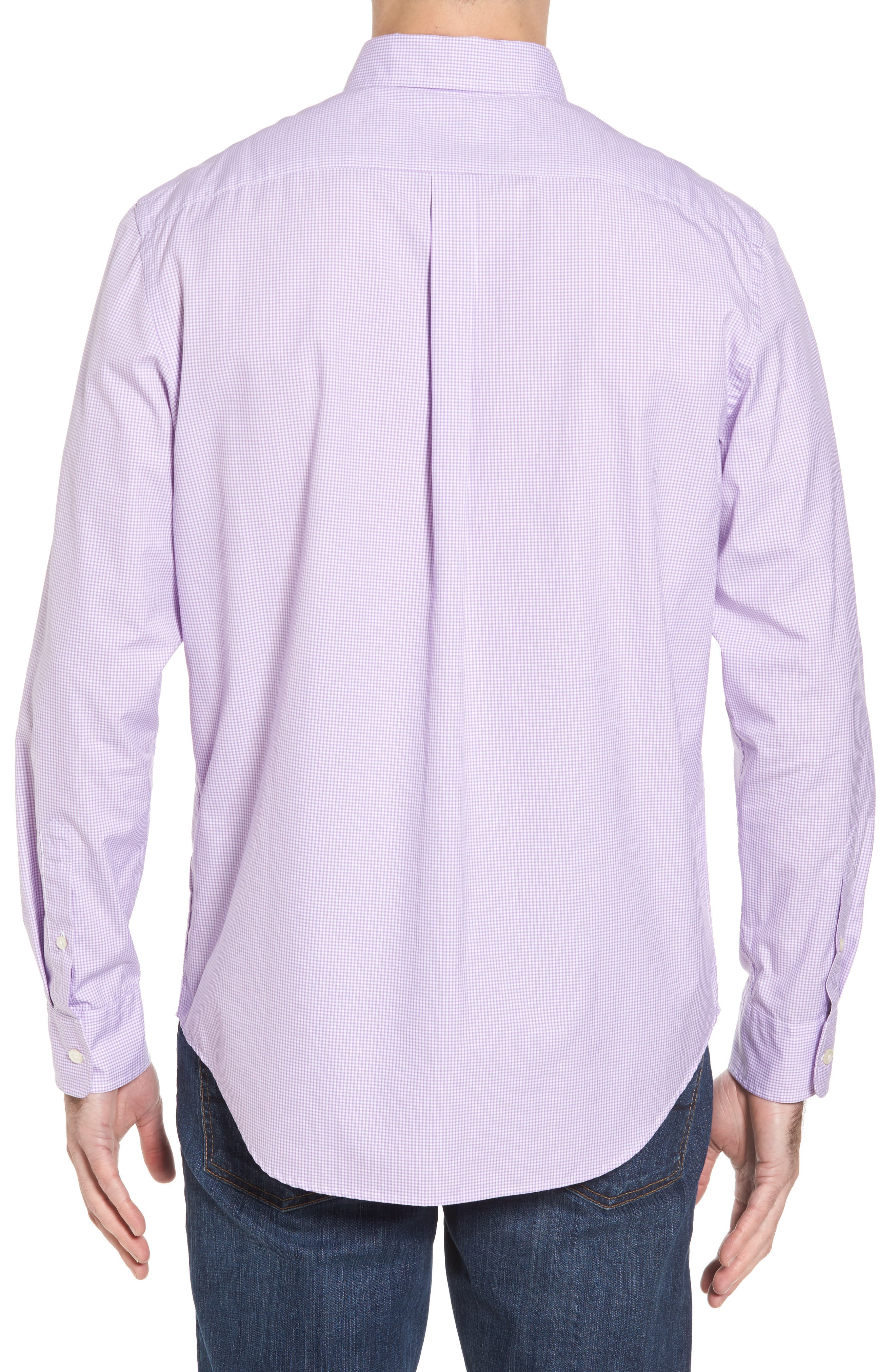 Seaboard Classic Fit Gingham Sport Shirt,                             Alternate thumbnail 2, color,                             Sea Urchin
