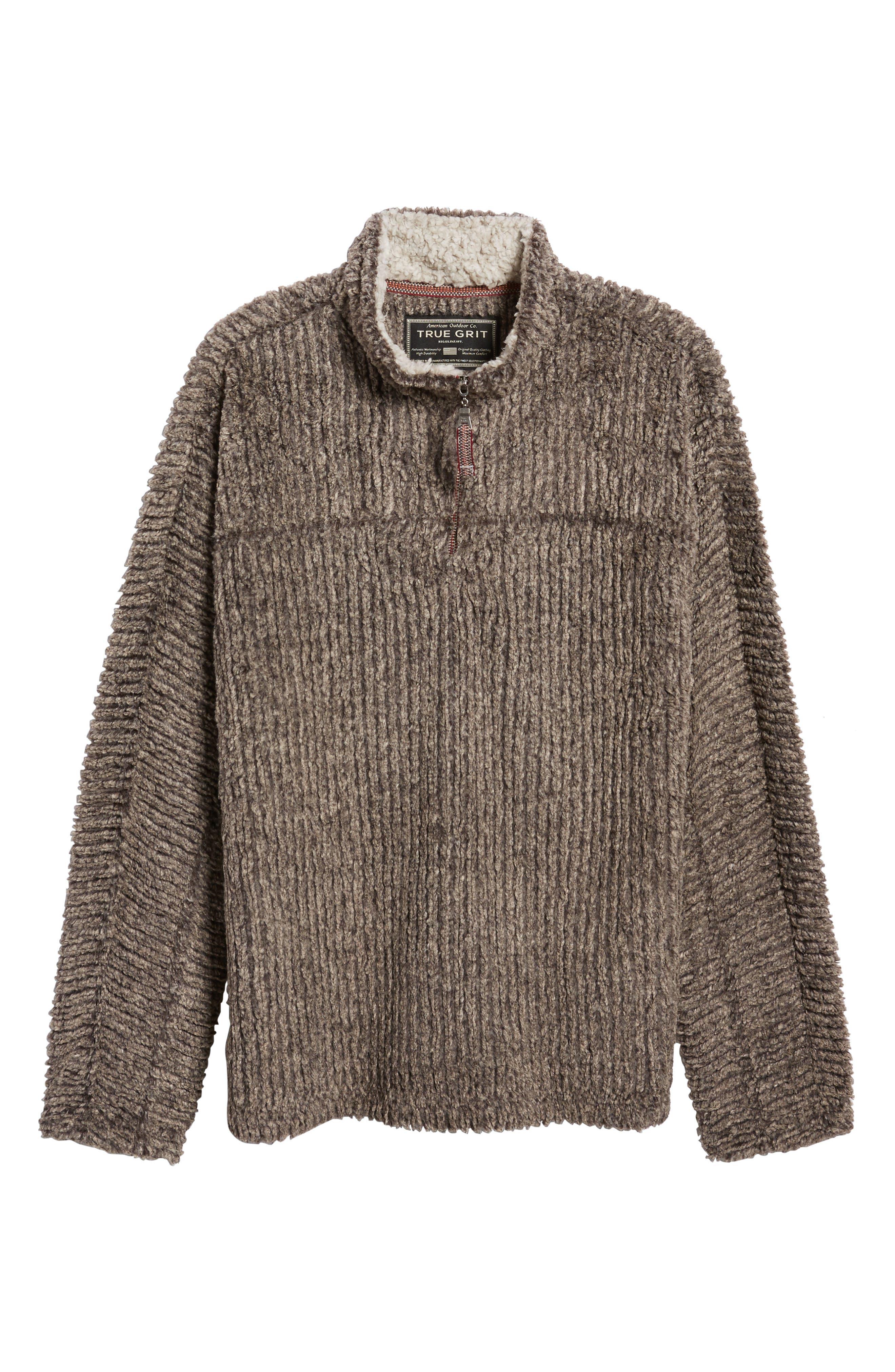 Alternate Image 6  - True Grit Frosty Cord Pile Quarter Zip Pullover