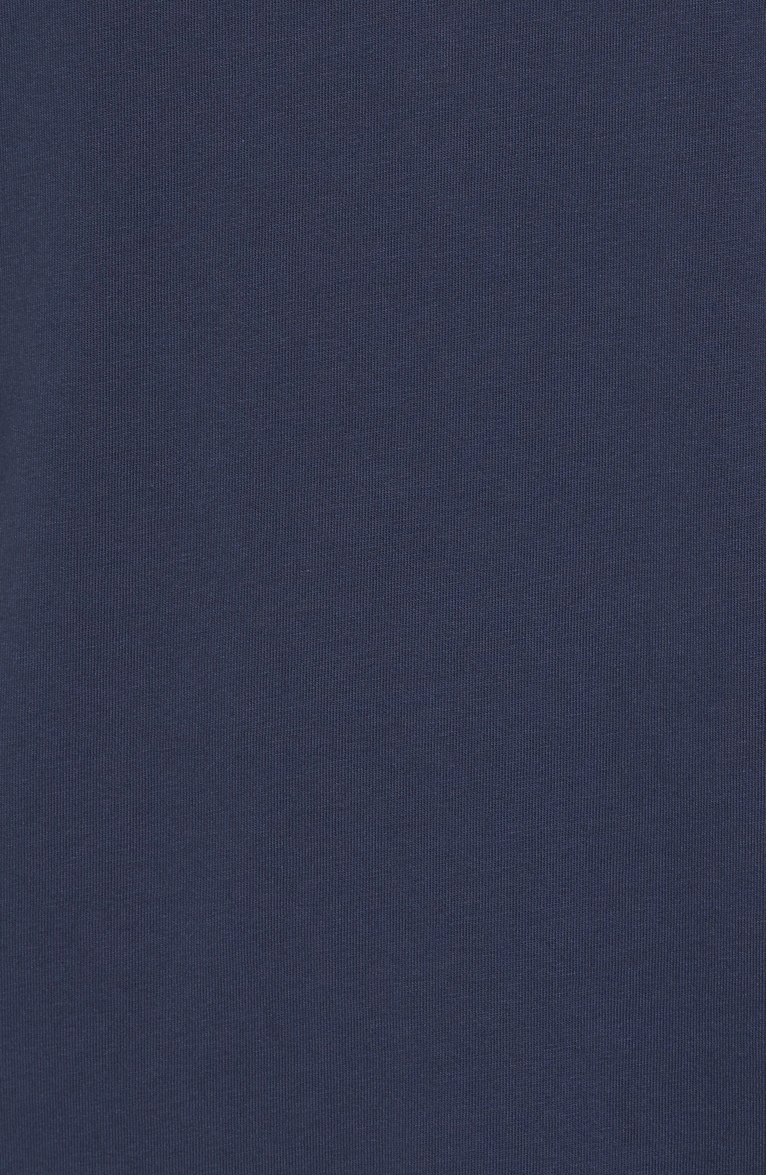 Mr. Claus Whale Graphic Pocket T-Shirt,                             Alternate thumbnail 5, color,                             Blue Blazer