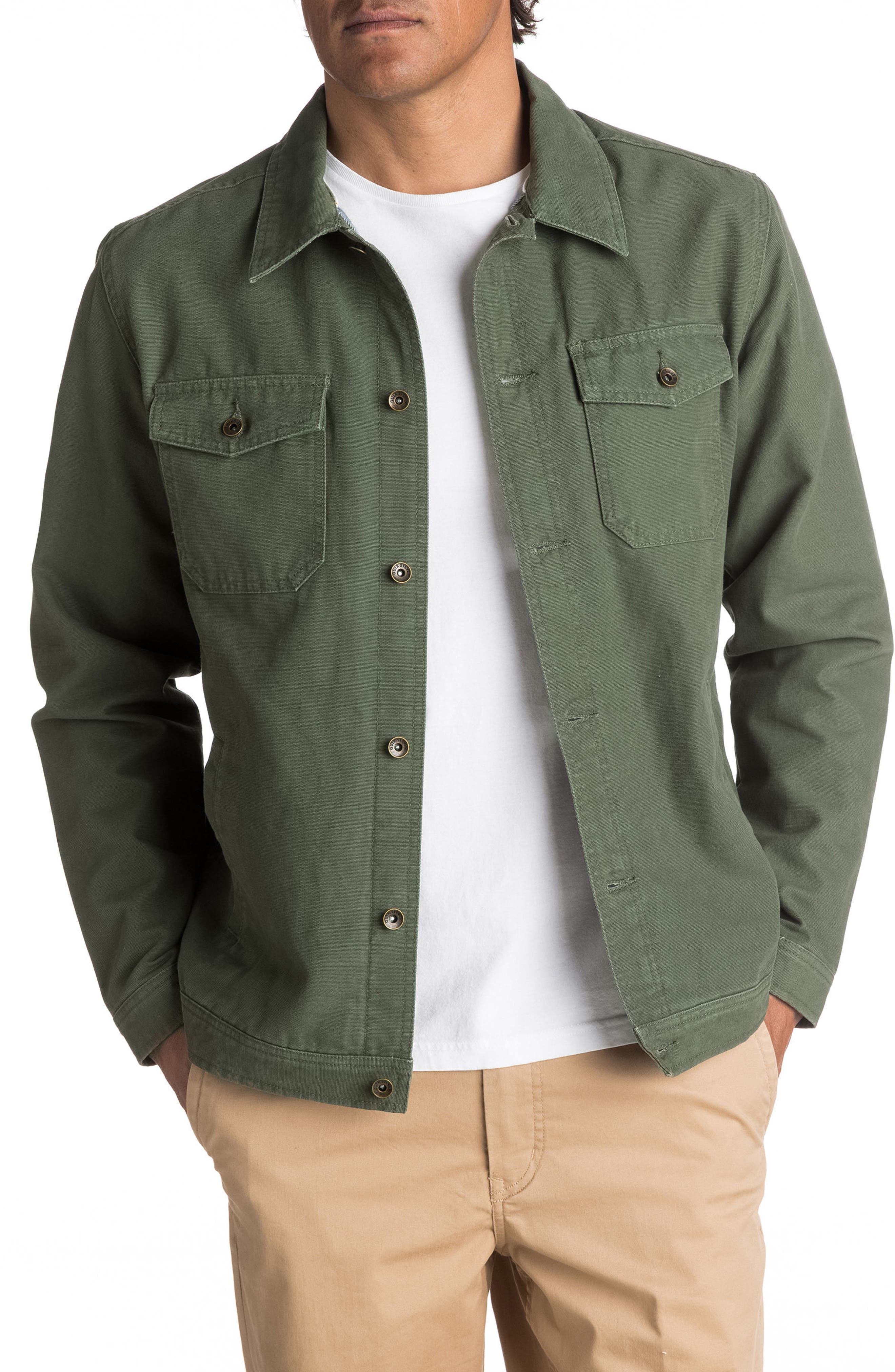 Tradie Canvas Jacket,                         Main,                         color, Bettle