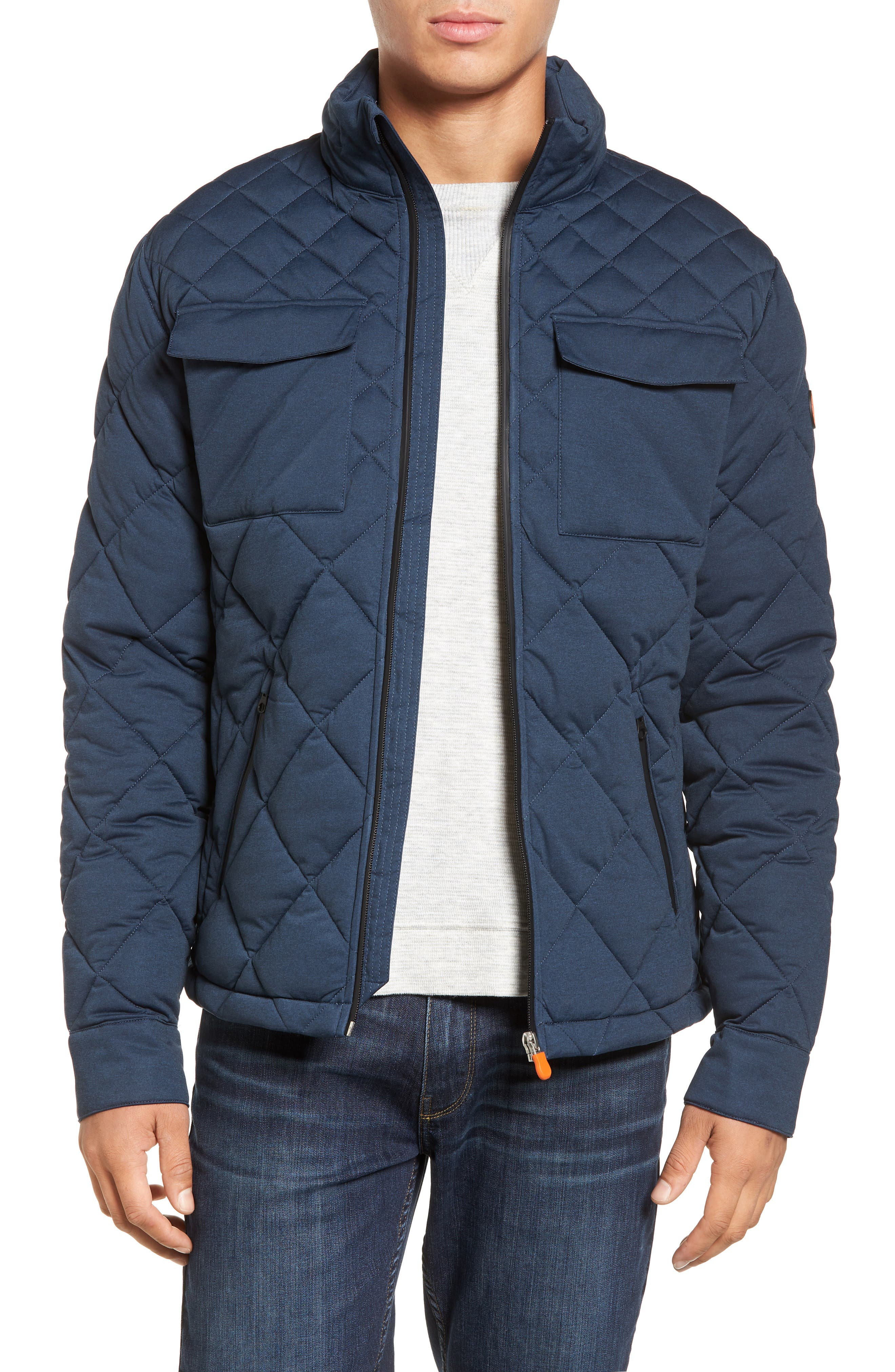 Main Image - Save The Duck Stretch Quilted Field Jacket
