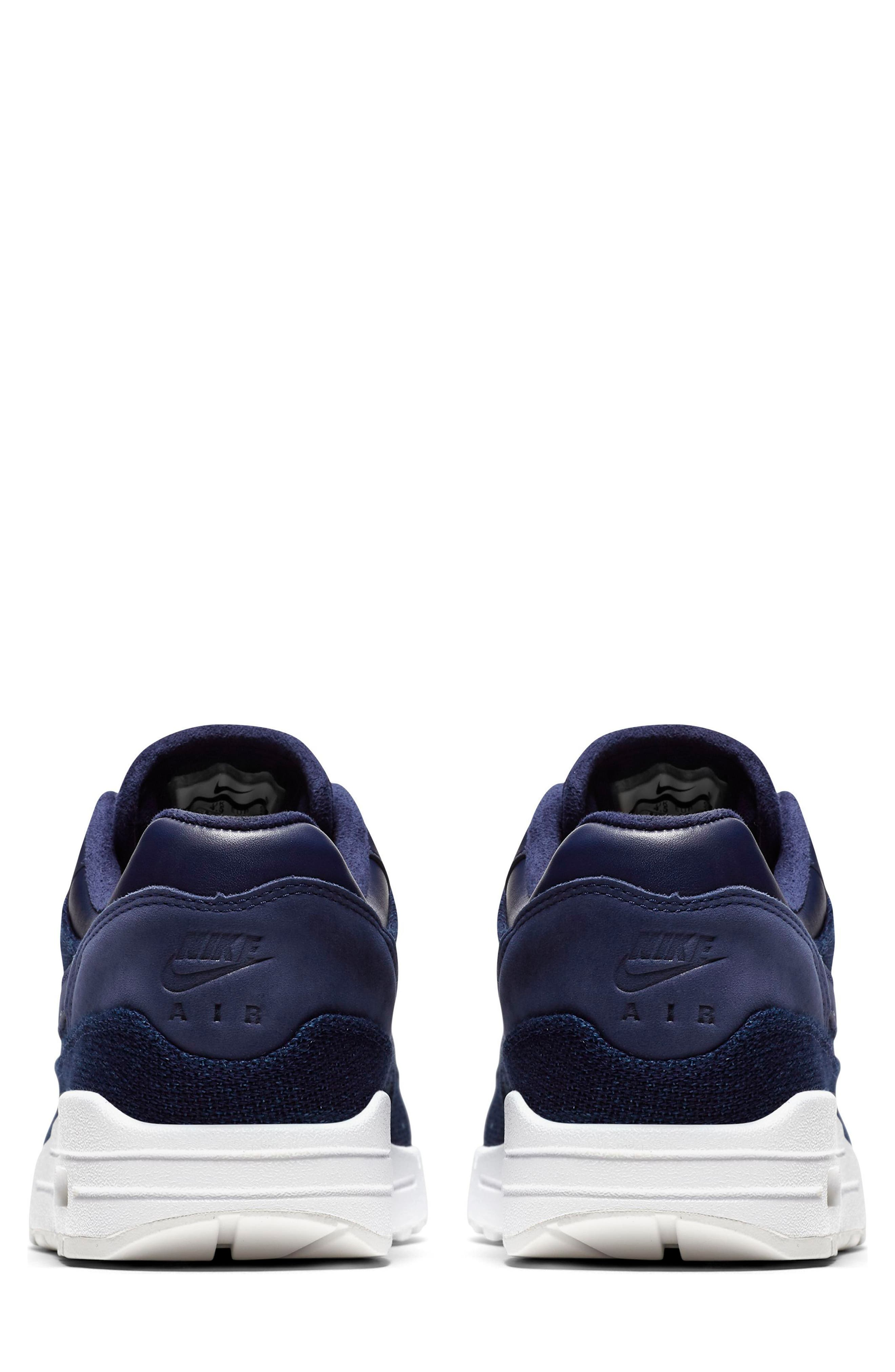 Air Max 1 Lux Sneaker,                             Alternate thumbnail 5, color,                             Binary Blue/ White/ Stout