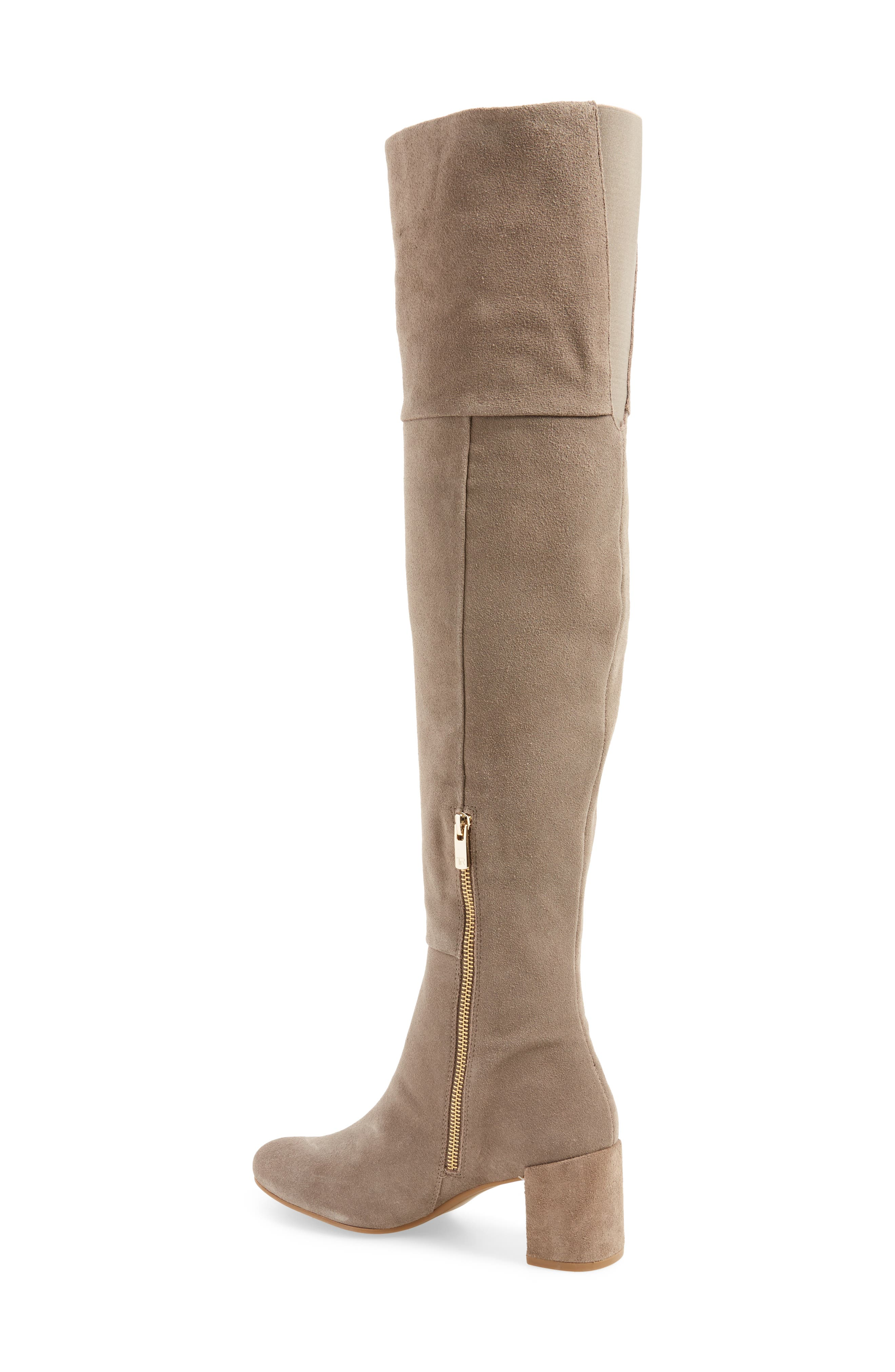 Catherine Over the Knee Boot,                             Alternate thumbnail 2, color,                             Grey Suede