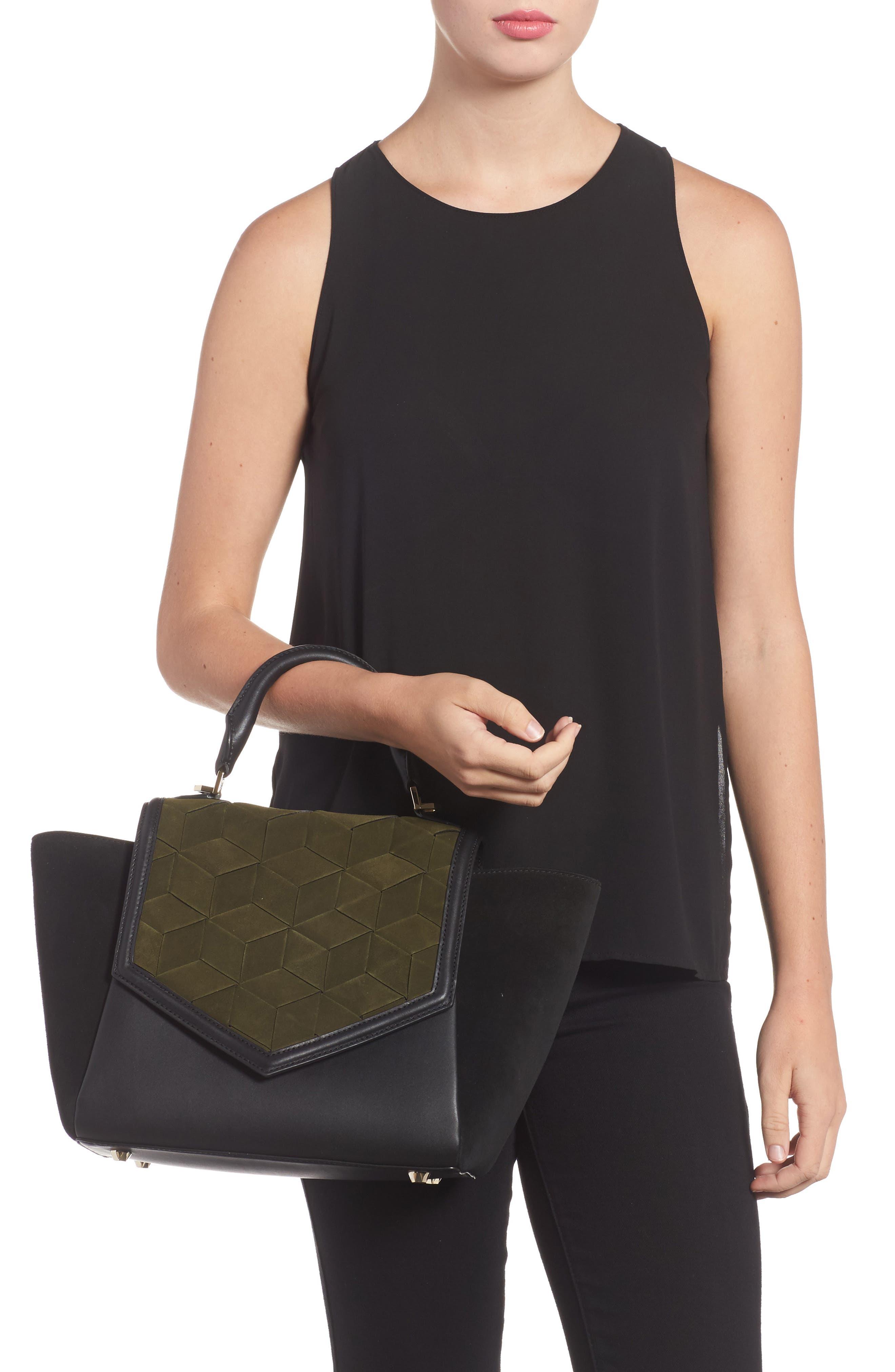 Alternate Image 2  - WELDEN Saunter Colorblocked Leather & Suede Top Handle Satchel