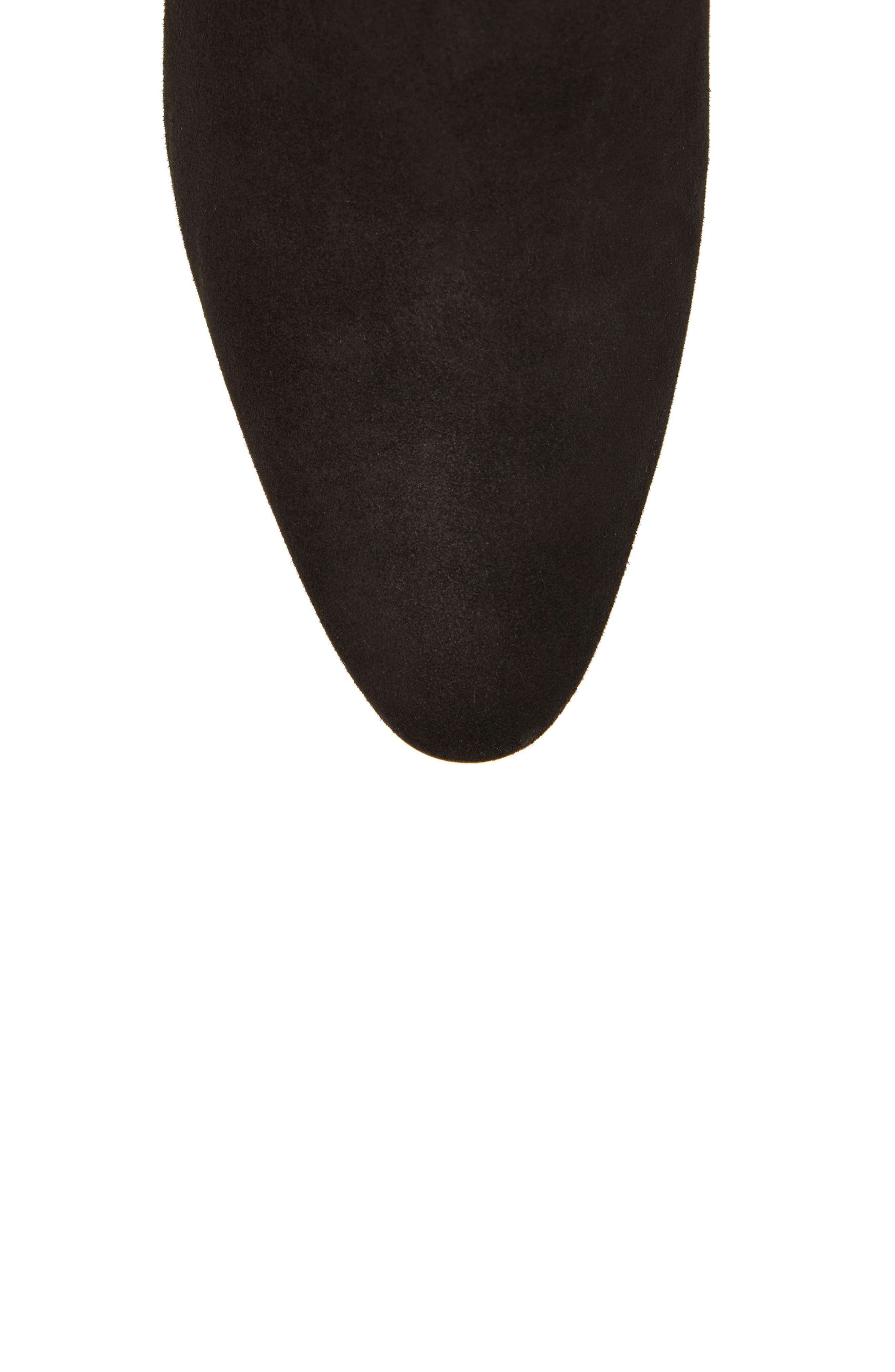 Dahlia Weatherproof Boot,                             Alternate thumbnail 5, color,                             Black Stretch Suede