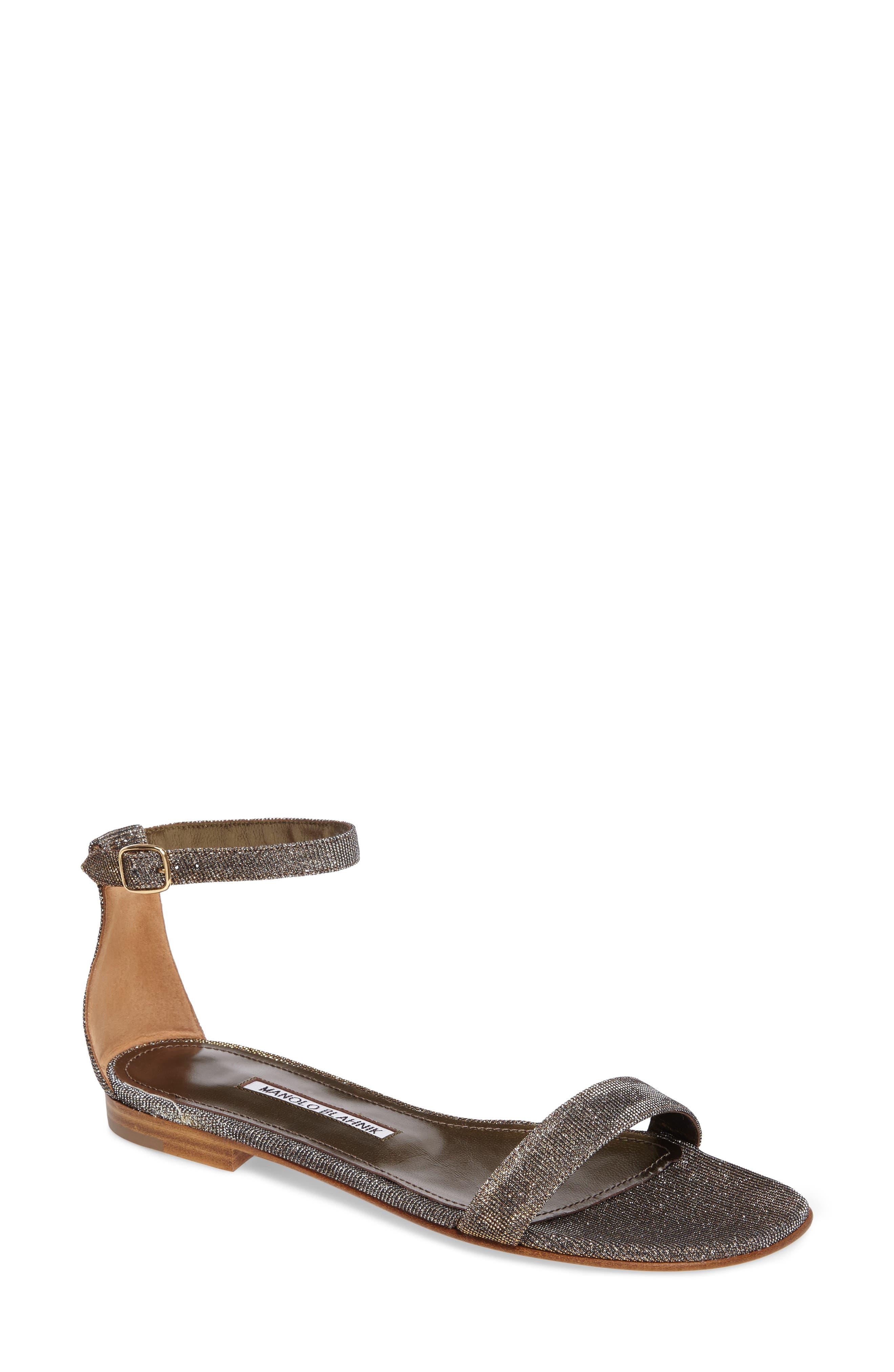 Alternate Image 1 Selected - Manolo Blahnik Chafla Ankle Strap Sandal (Women)