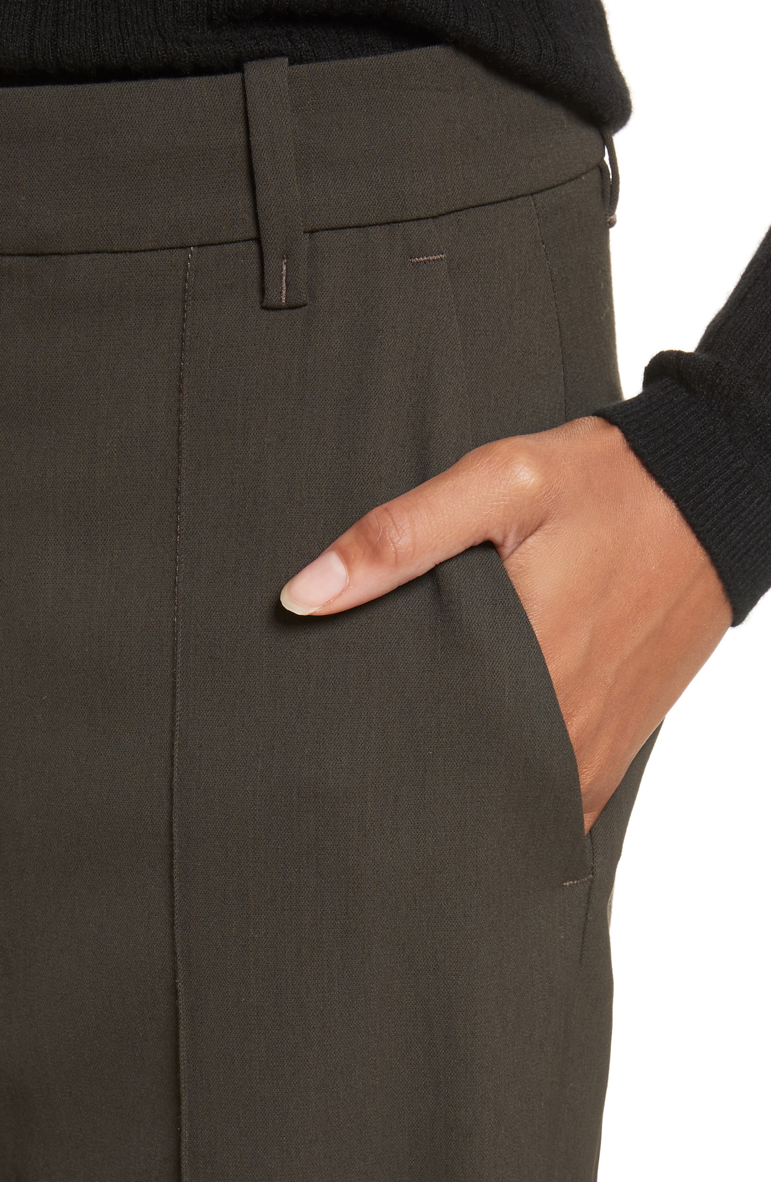 Stitch Front Pants,                             Alternate thumbnail 4, color,                             Olive