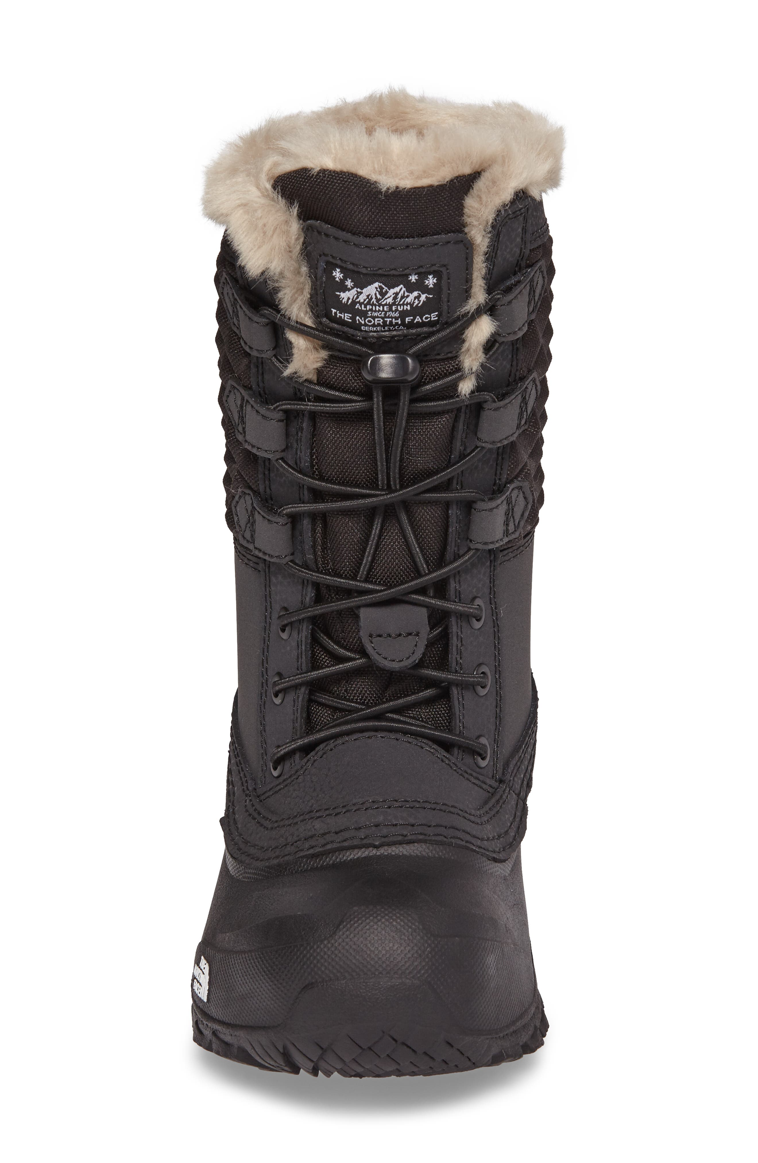 Alternate Image 4  - The North Face Shellista Lace III Faux Fur Waterproof Boot (Toddler, Little Kid & Big Kid)