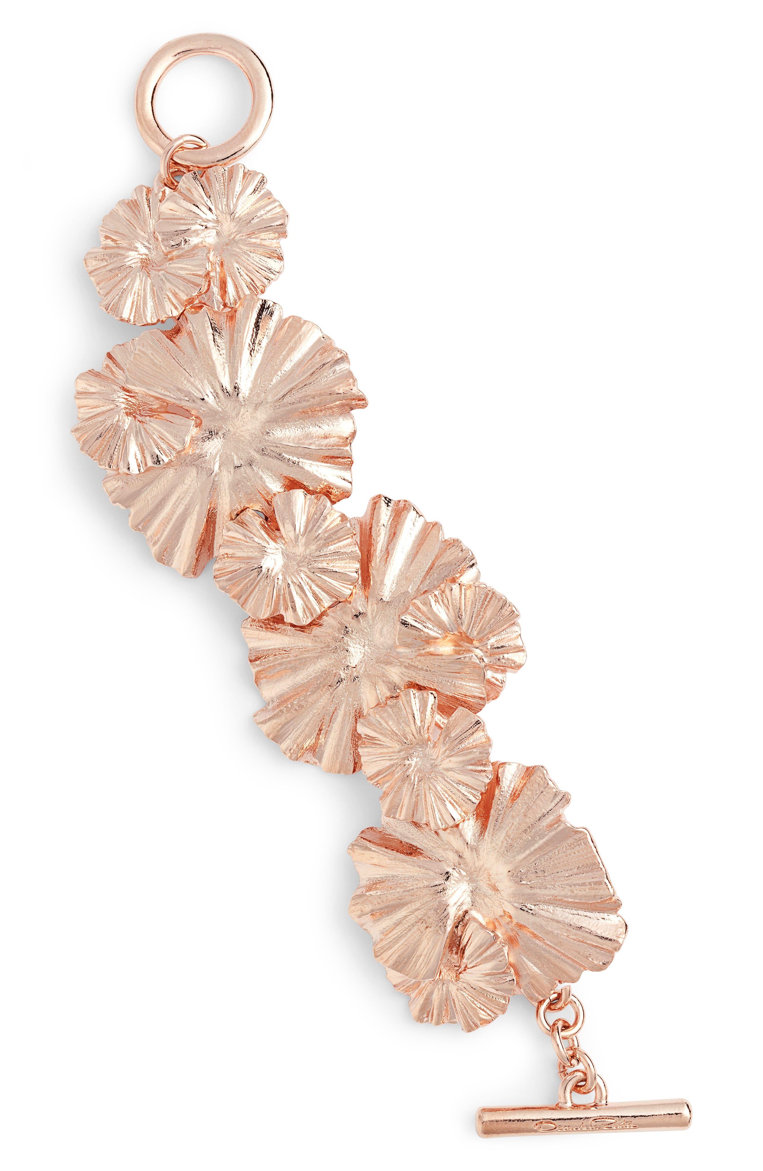 Wildflower Bracelet,                         Main,                         color, Rose Gold
