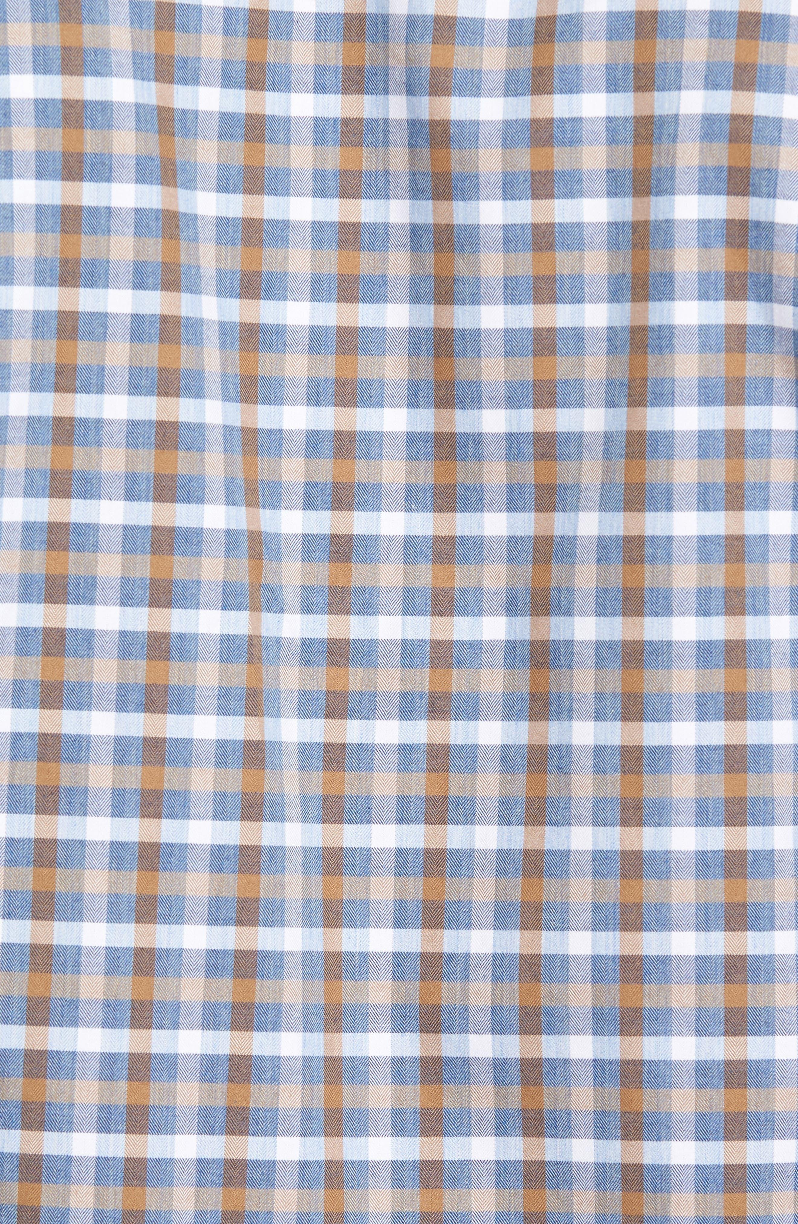 Alternate Image 5  - David Donahue Plaid Regular Fit Sport Shirt