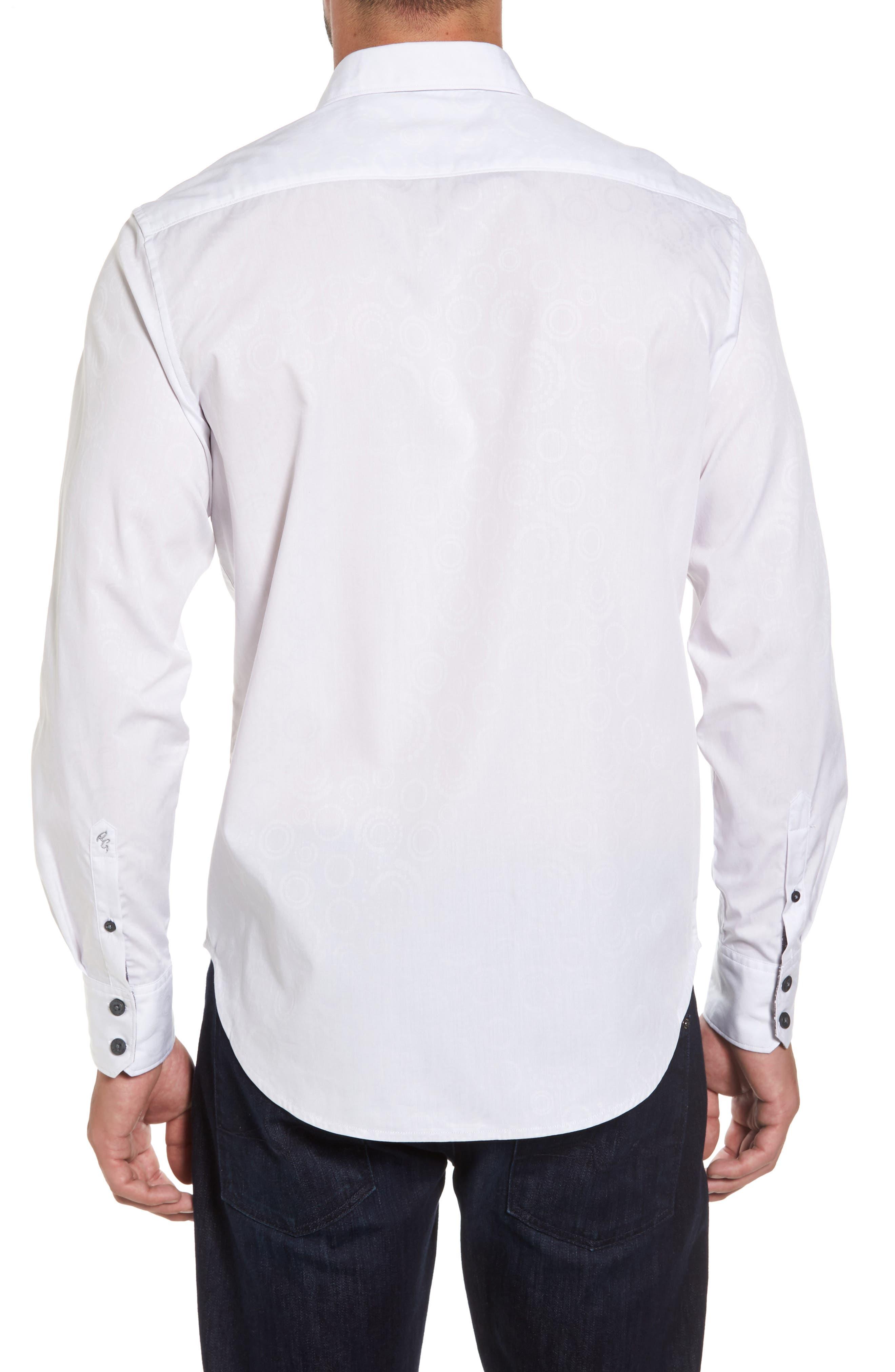 Binghampton Regular Fit Sport Shirt,                             Alternate thumbnail 2, color,                             White