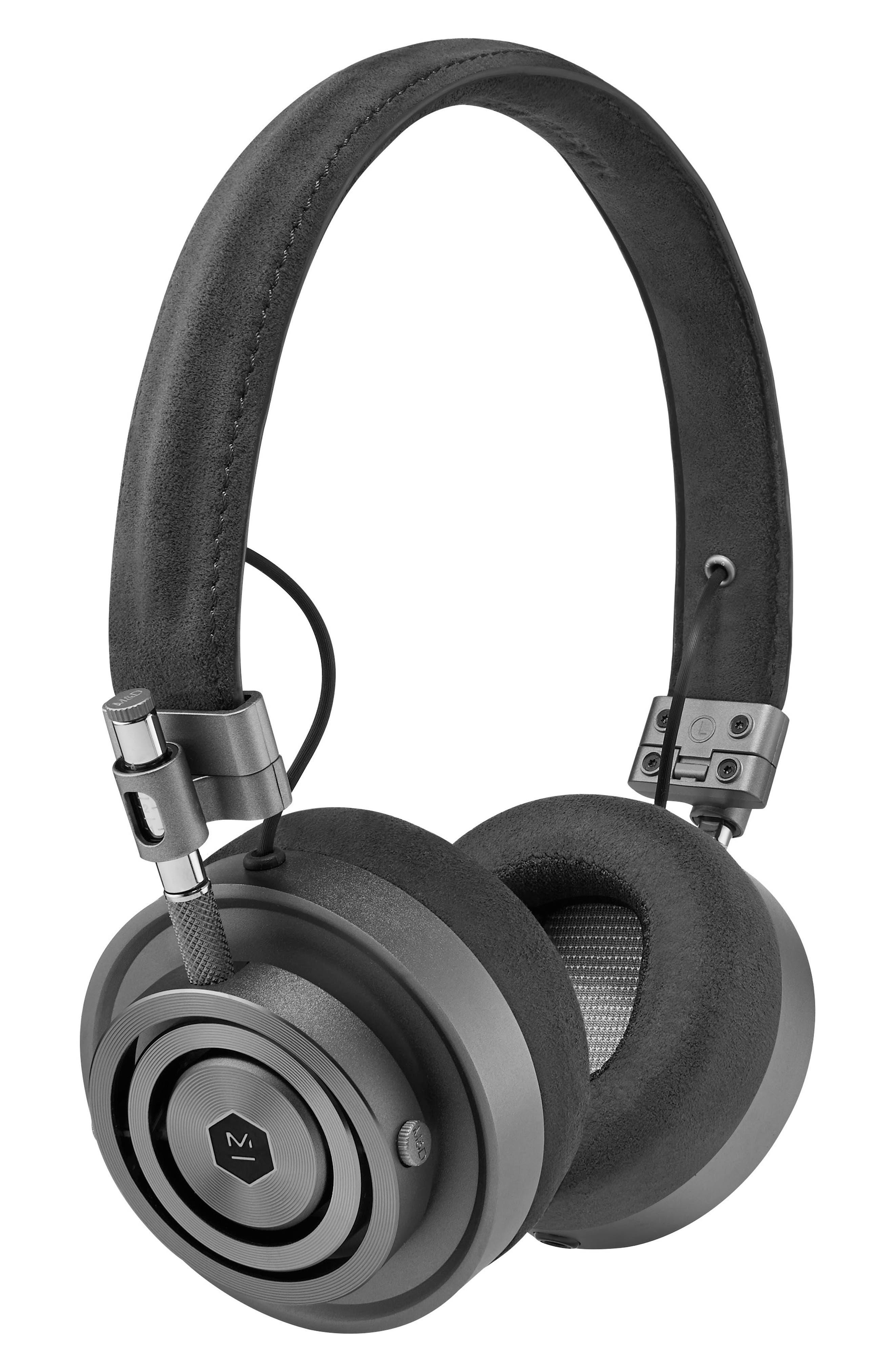'MH30' On Ear Headphones,                         Main,                         color, Alcantara/ Gunmetal