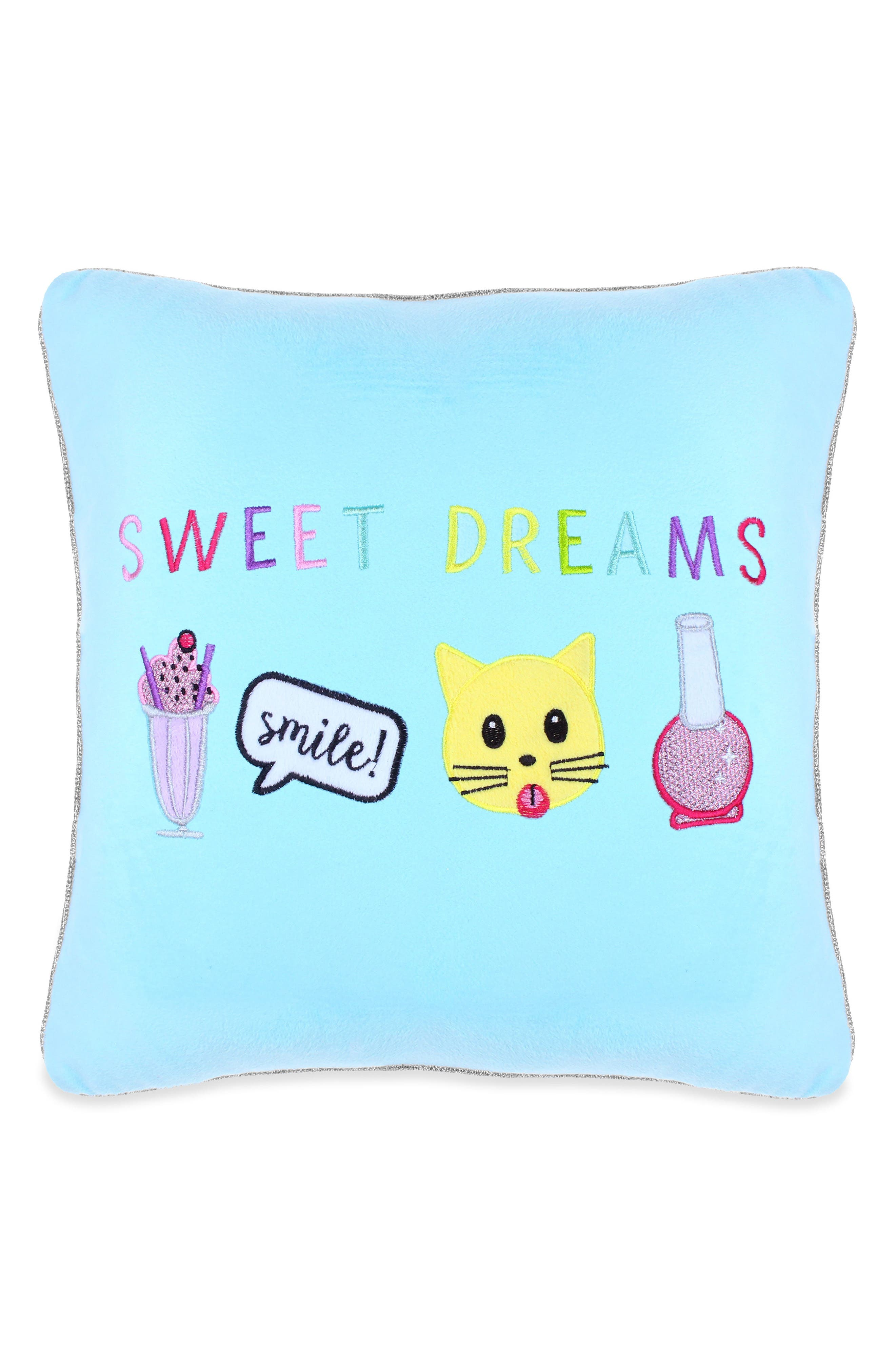 Capelli New York Sweet Dreams Appliquéd Pillow