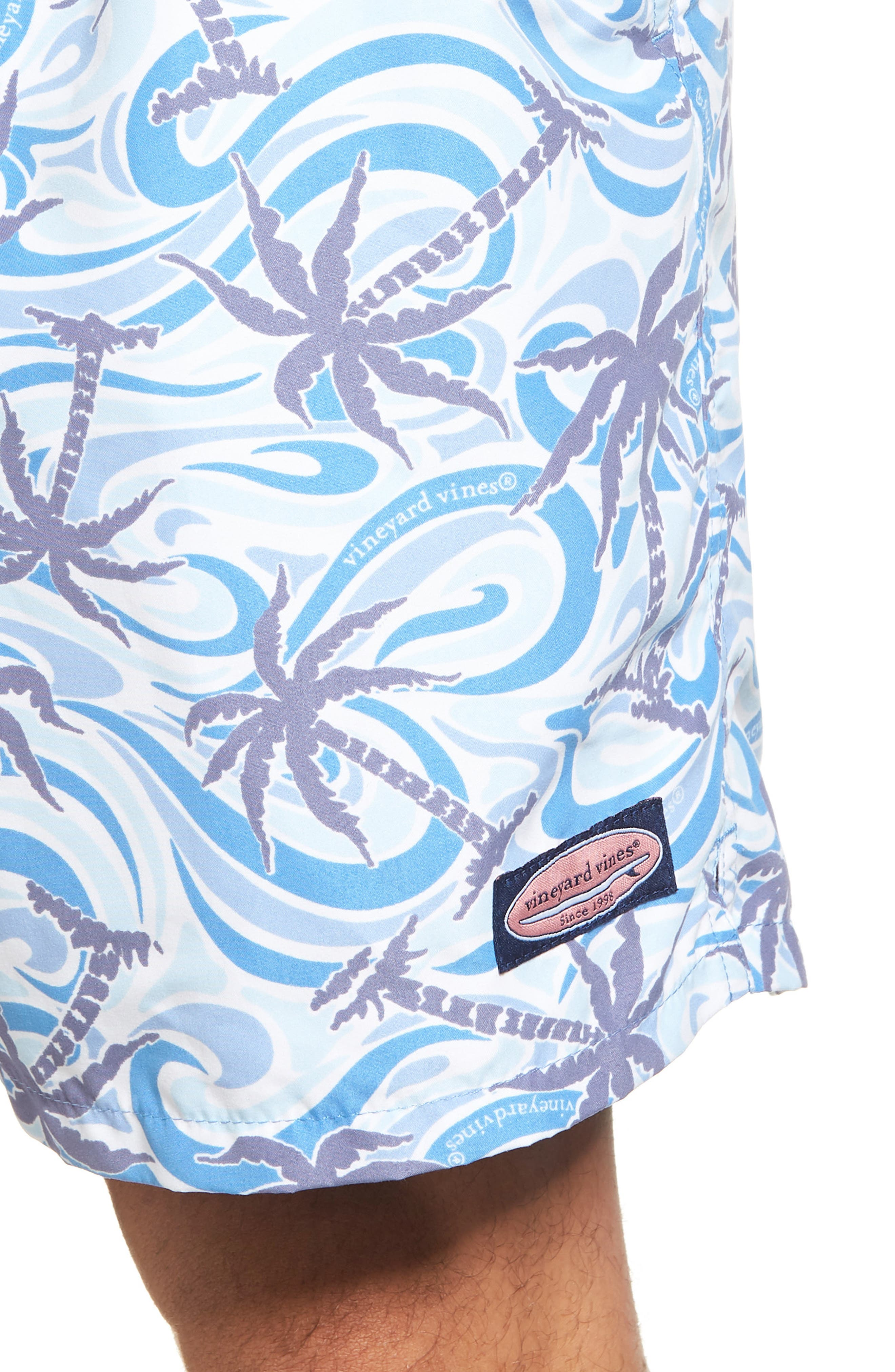 Alternate Image 4  - vineyard vines Chappy Wave Palm Tree Swim Trunks