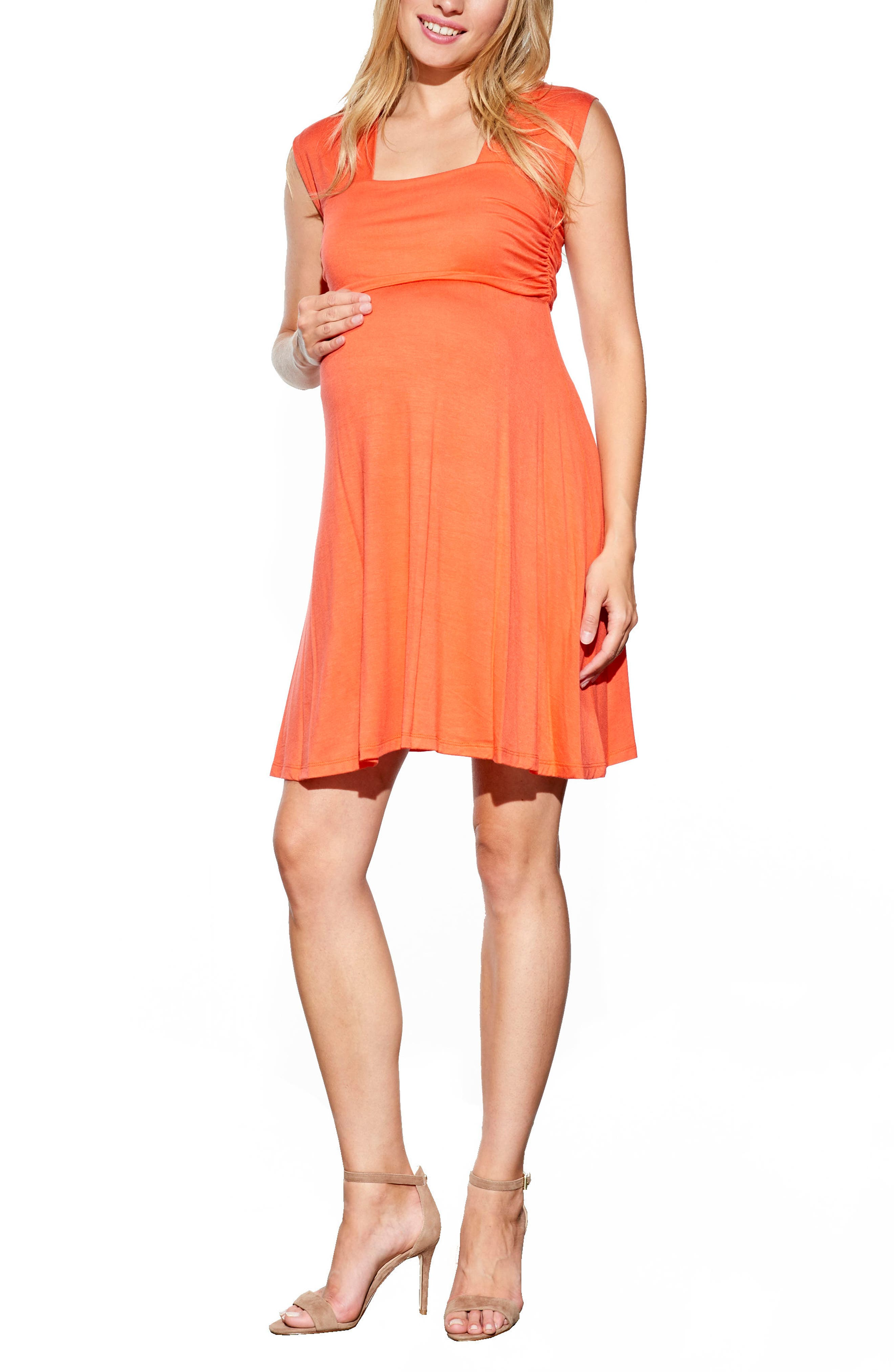 'Mini Sweetheart' Dress,                             Main thumbnail 1, color,                             Orange