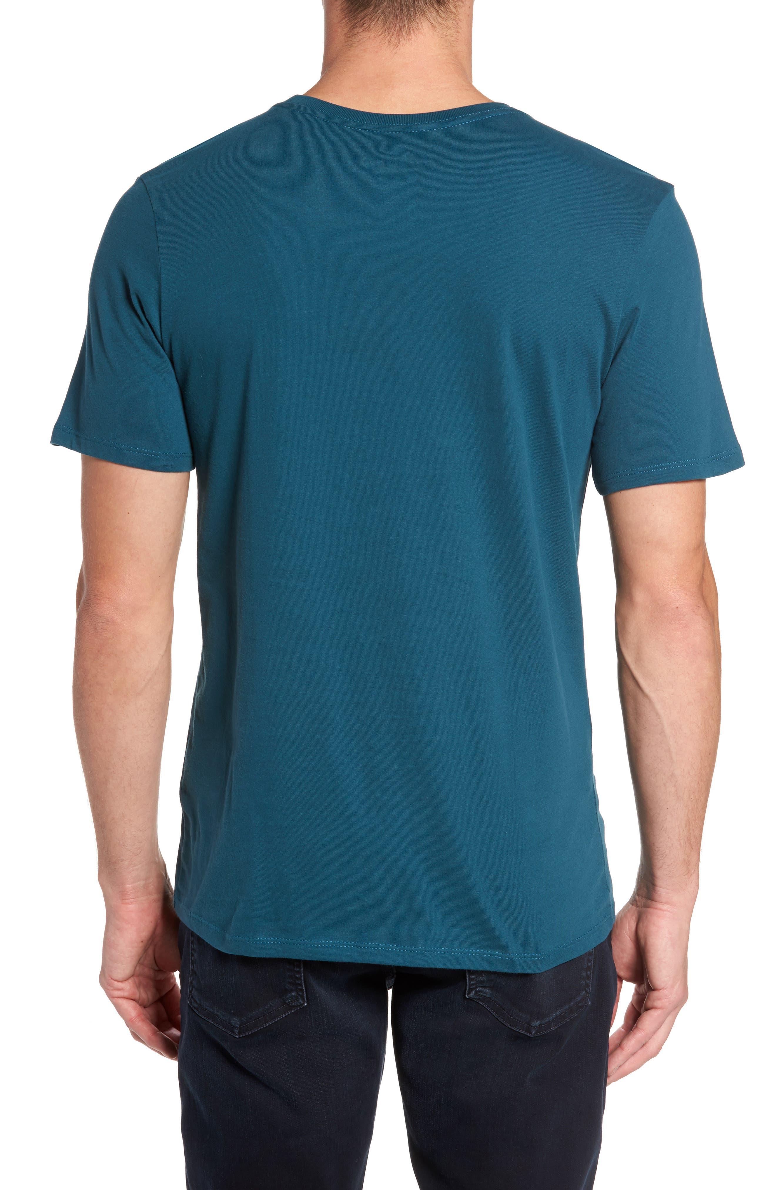 'Tee-Futura Icon' Graphic T-Shirt,                             Alternate thumbnail 2, color,                             Space Blue/ White