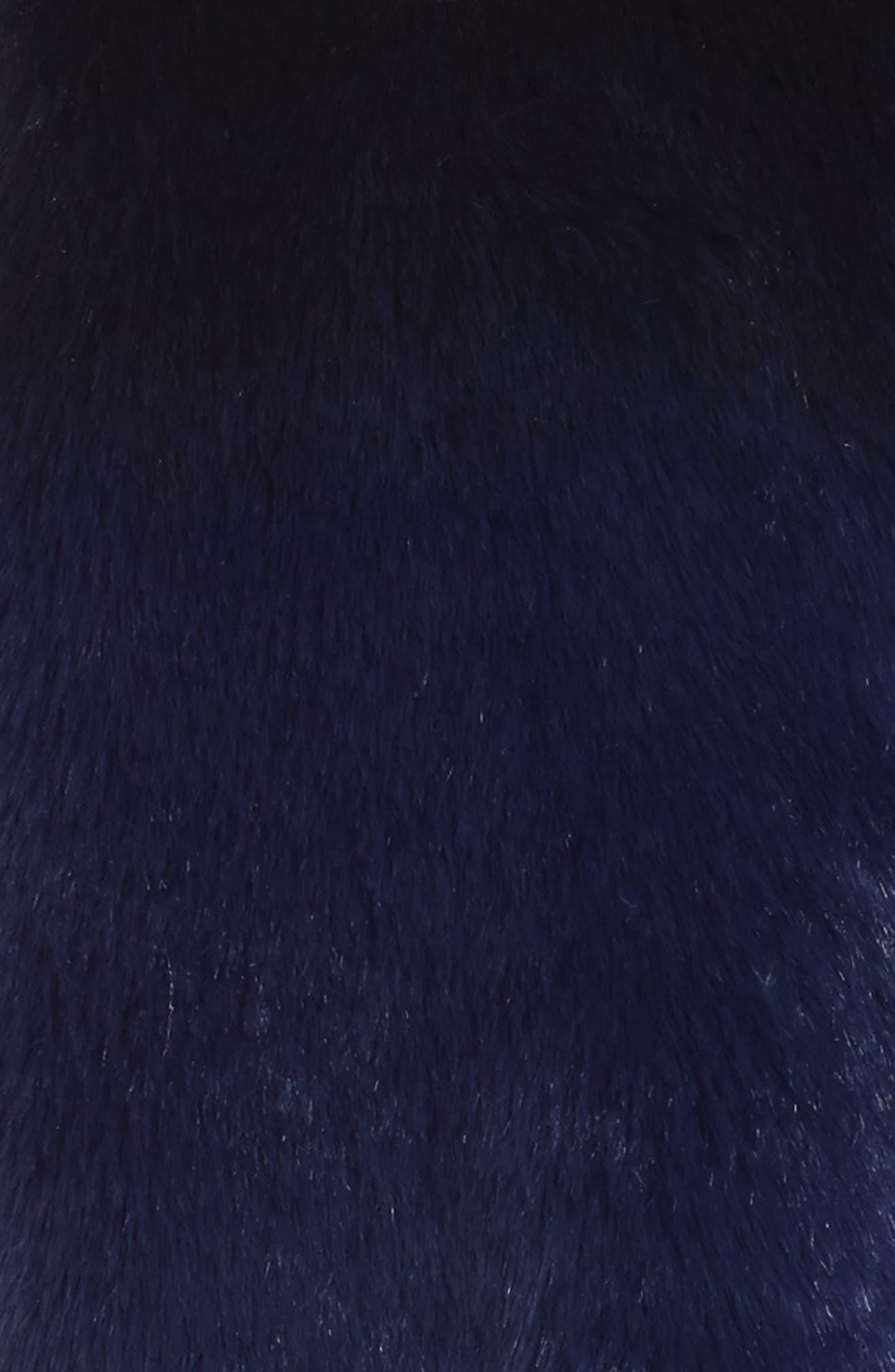 Ryan Ombré Faux Fur Hooded Vest,                             Alternate thumbnail 5, color,                             Blue