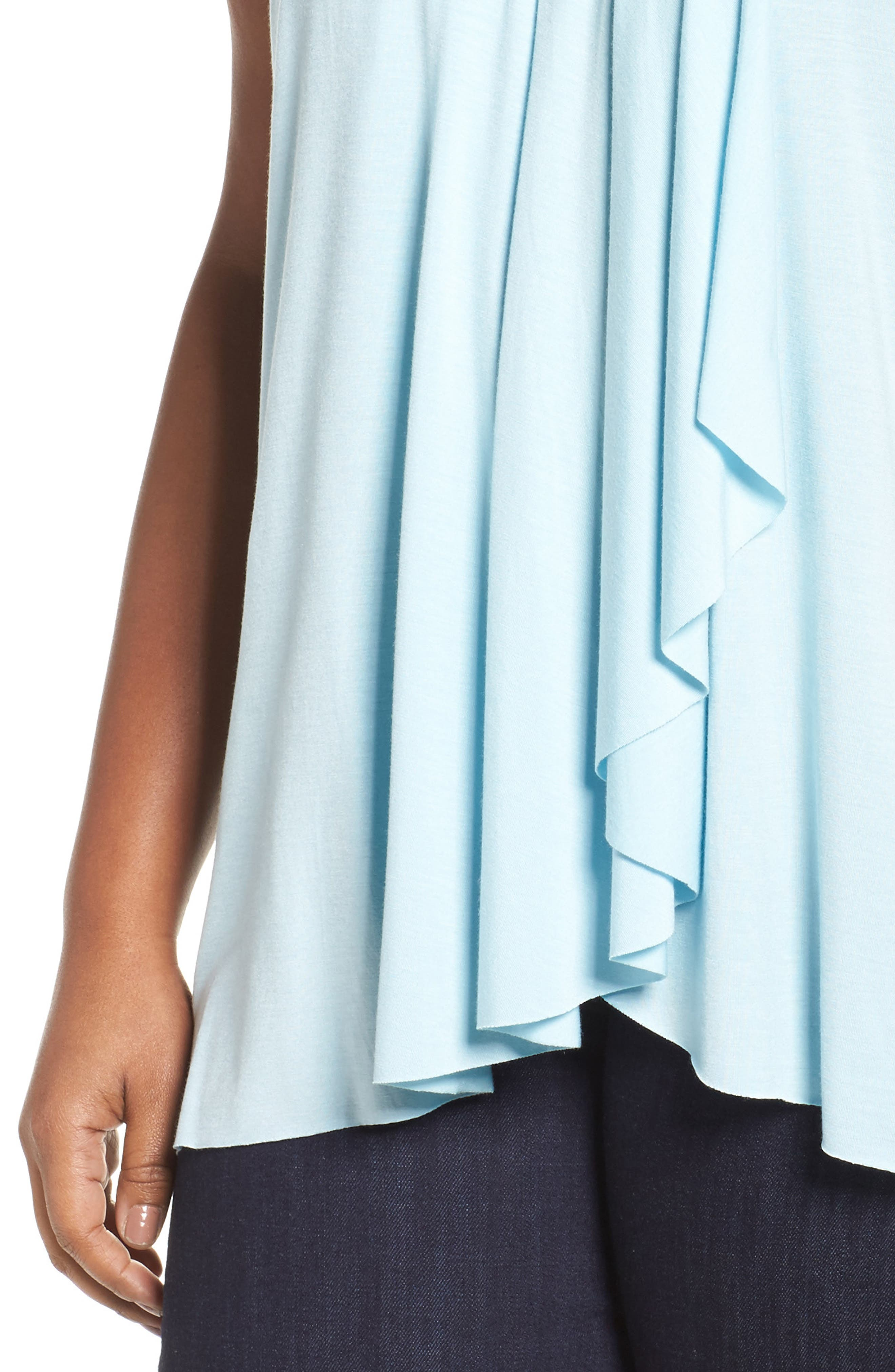 Pleat Front Tee,                             Alternate thumbnail 4, color,                             Blue Crystal