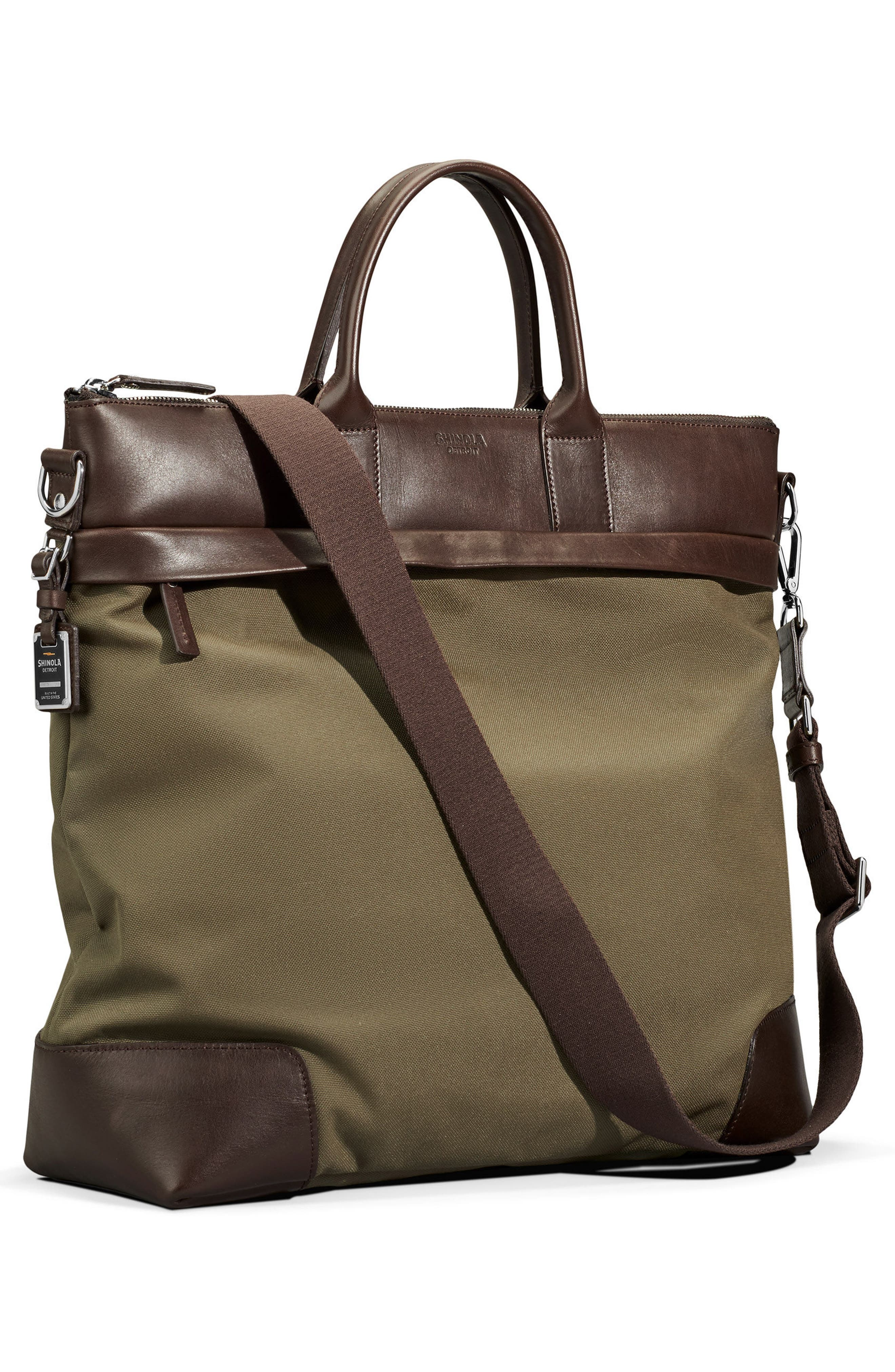 Tote Bag,                             Alternate thumbnail 4, color,                             Olive/ Deep Brown