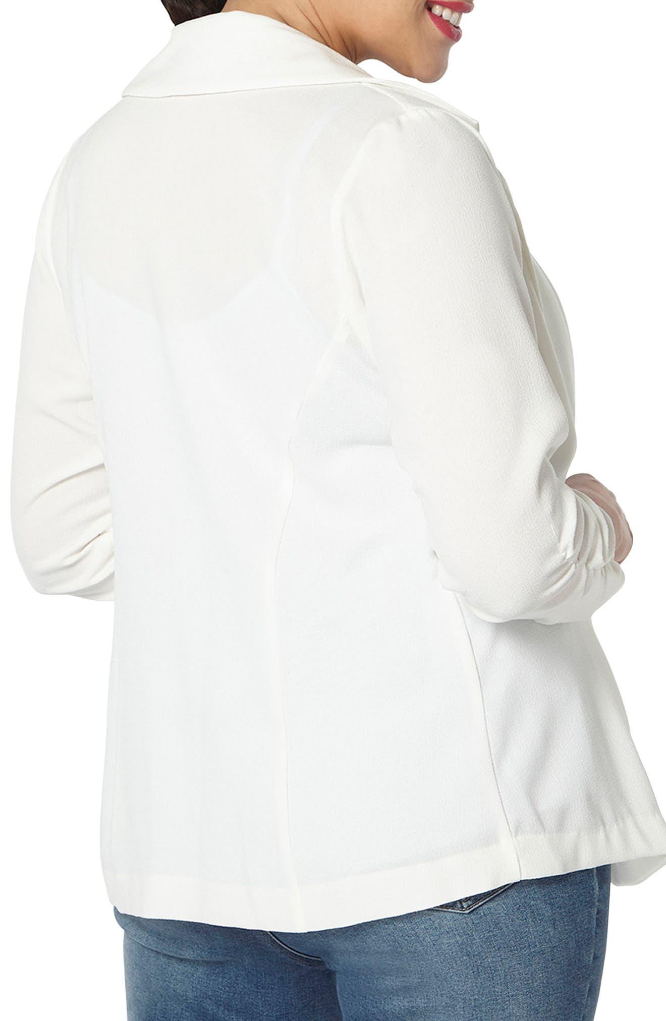 Alternate Image 2  - Evans Crepe Blazer (Plus Size)