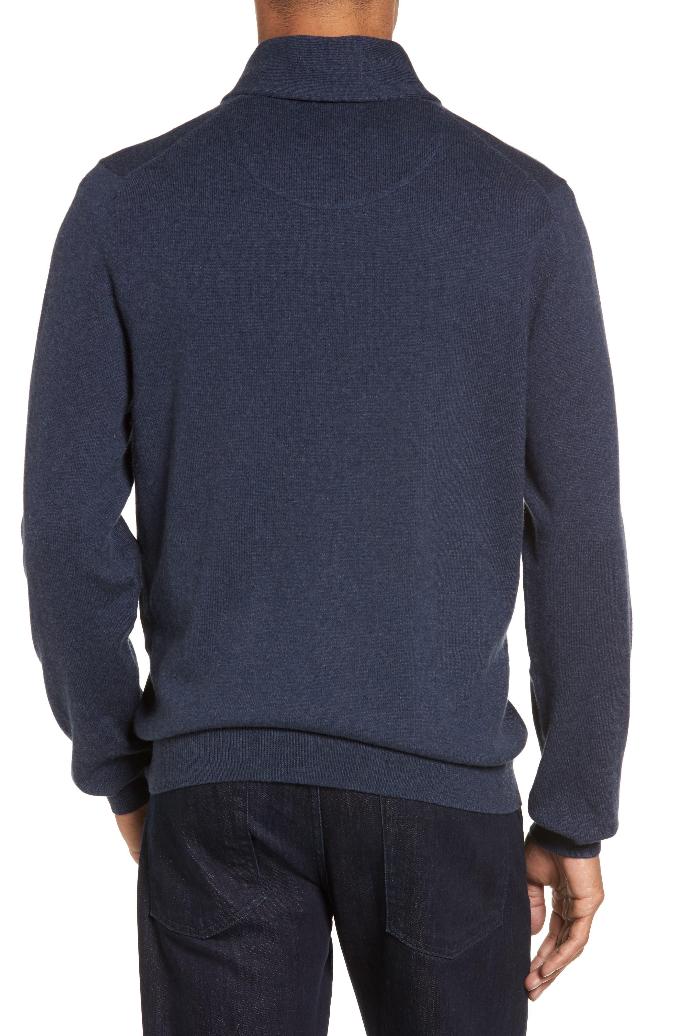 Men's Shop Shawl Collar Sweater,                             Alternate thumbnail 2, color,                             Blue Estate Heather