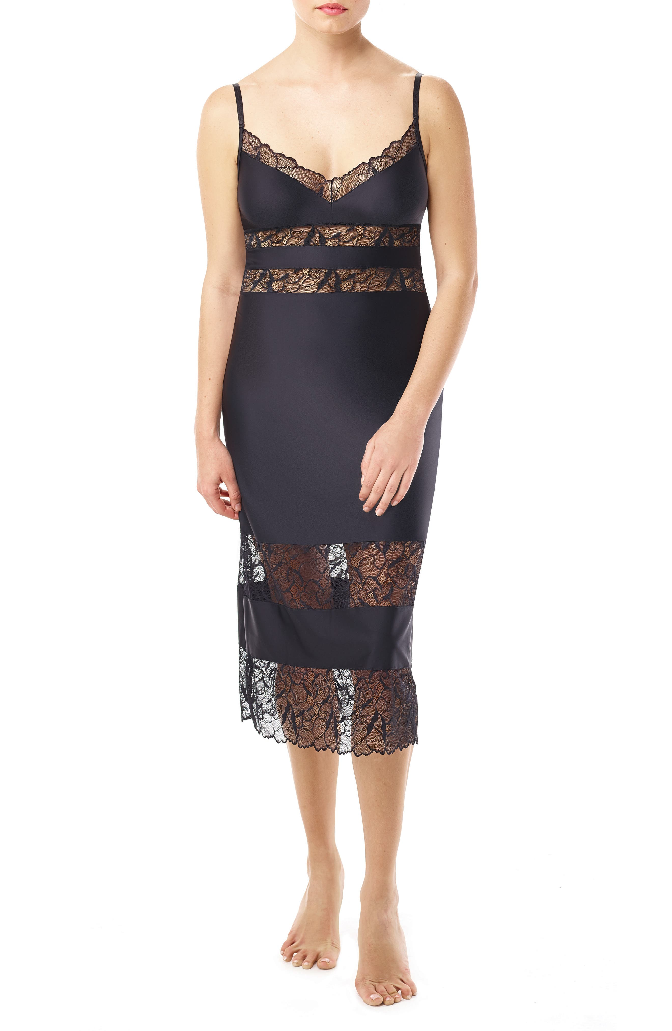 Commando Lace & Satin Slip Dress