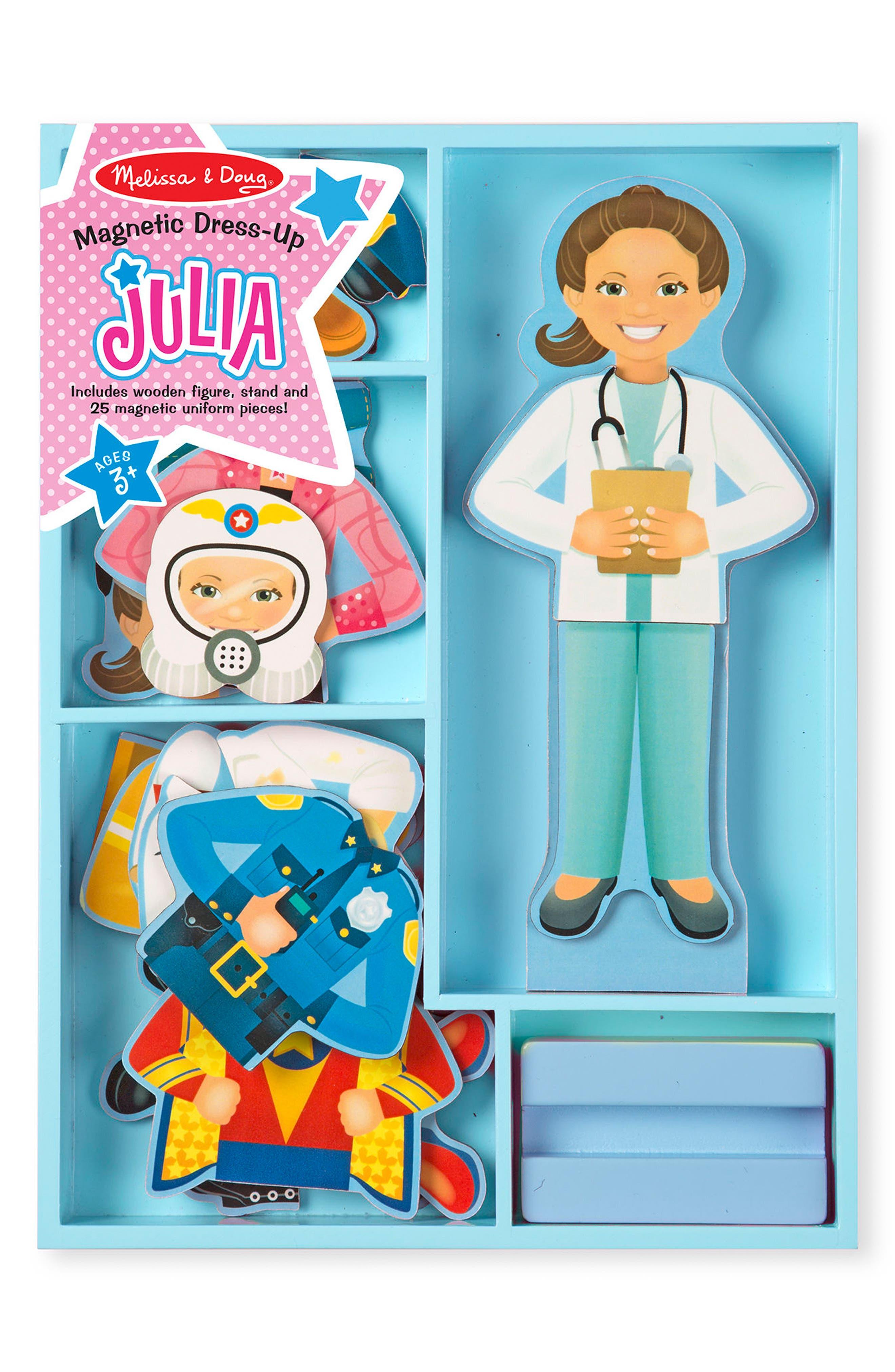 Melissa & Doug 27-Piece Magnetic Dress-Up Julia Doll