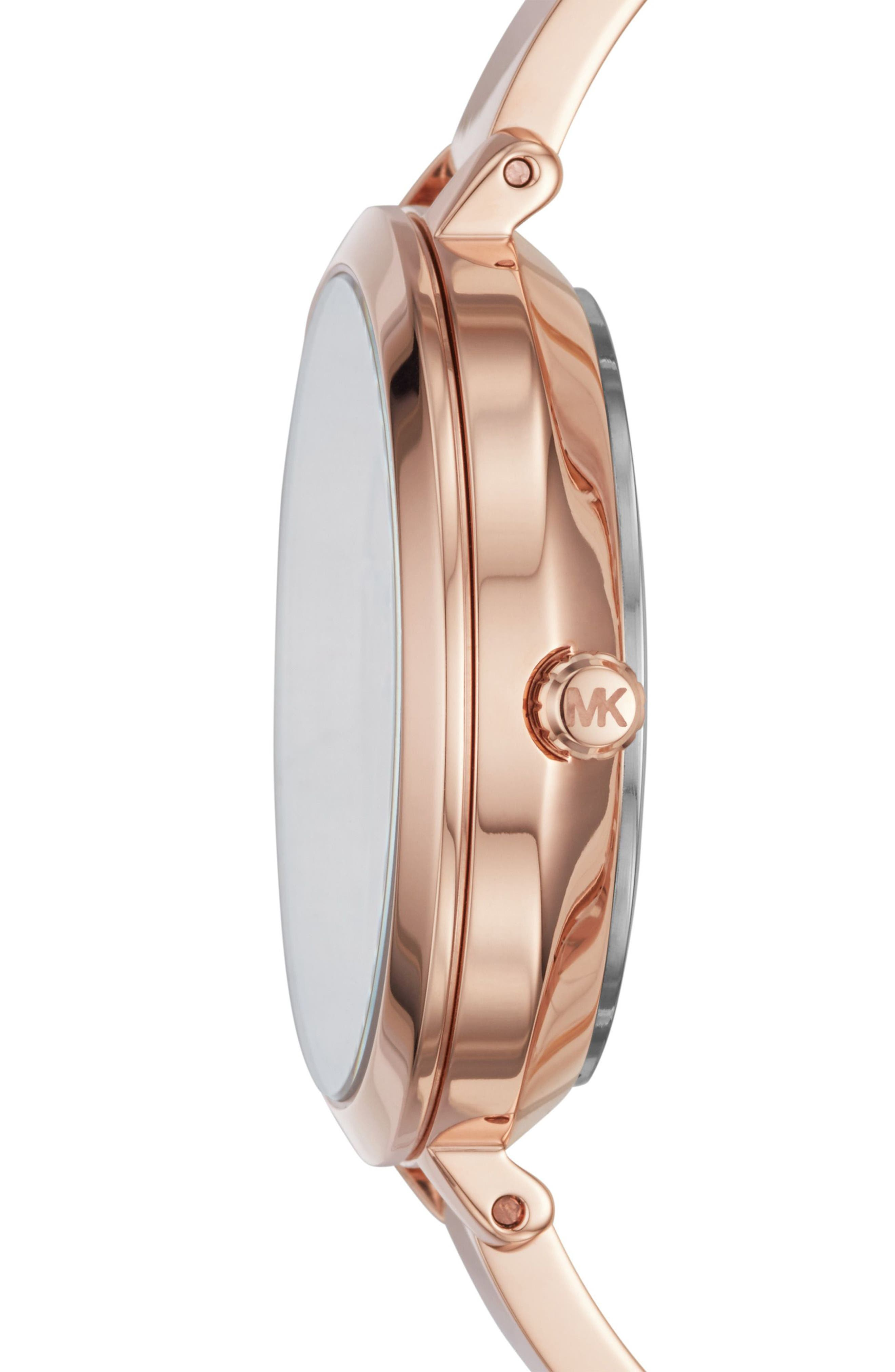 Jaryn Crystal Accent Bangle Watch, 36mm,                             Alternate thumbnail 2, color,                             Rose Gold