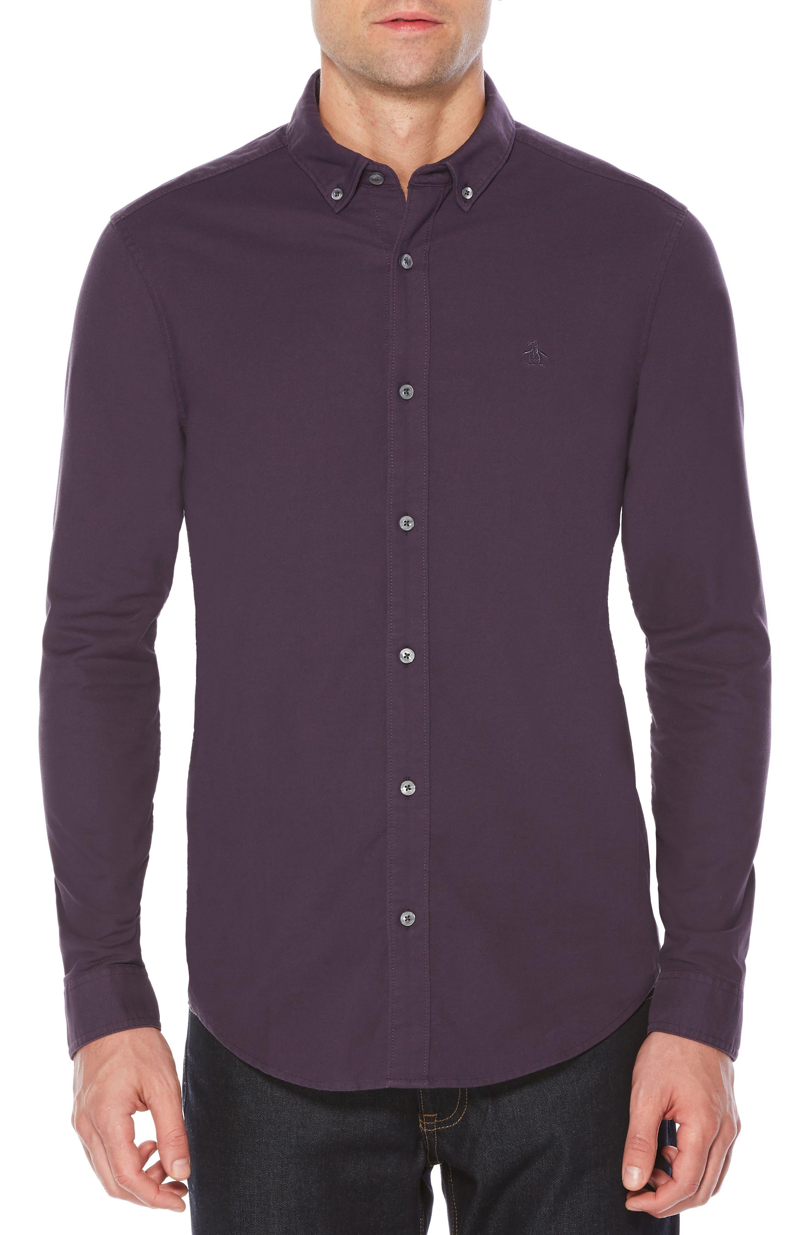 Basic Oxford Shirt,                         Main,                         color, Nightshade