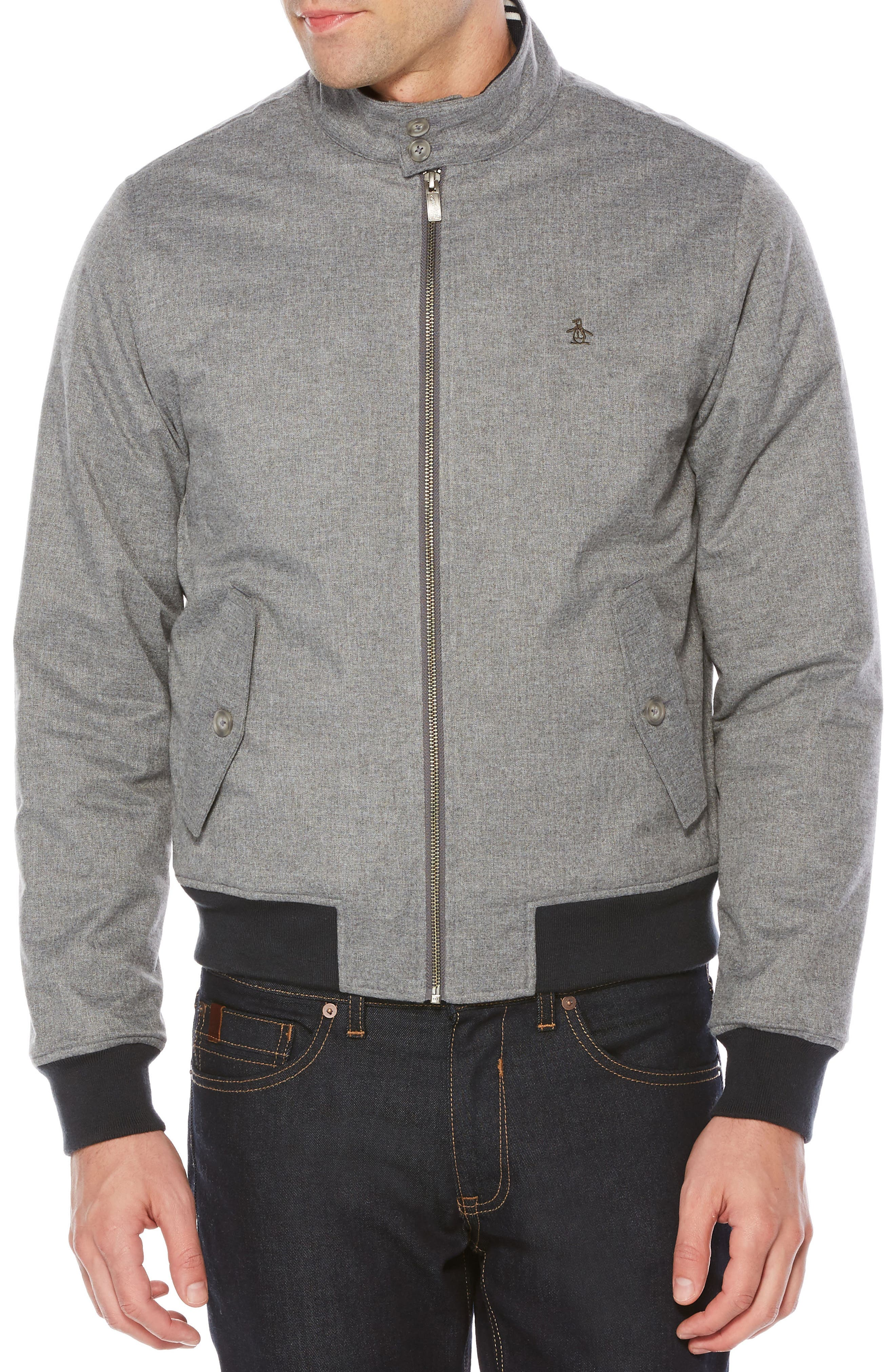 Original Penguin P55 Heathered Harrington Jacket