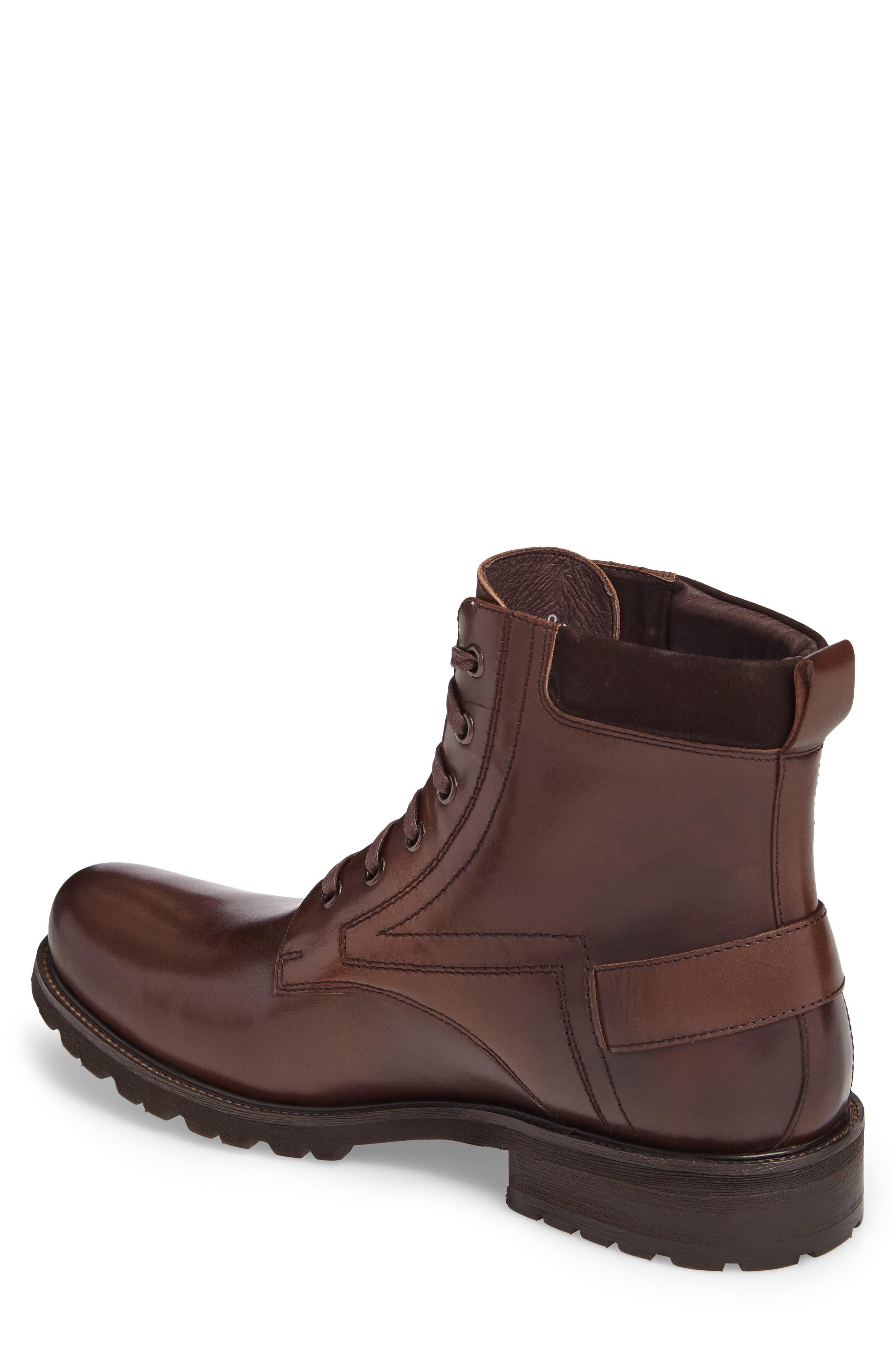 Keller Plain Toe Boot,                             Alternate thumbnail 2, color,                             Brown Leather