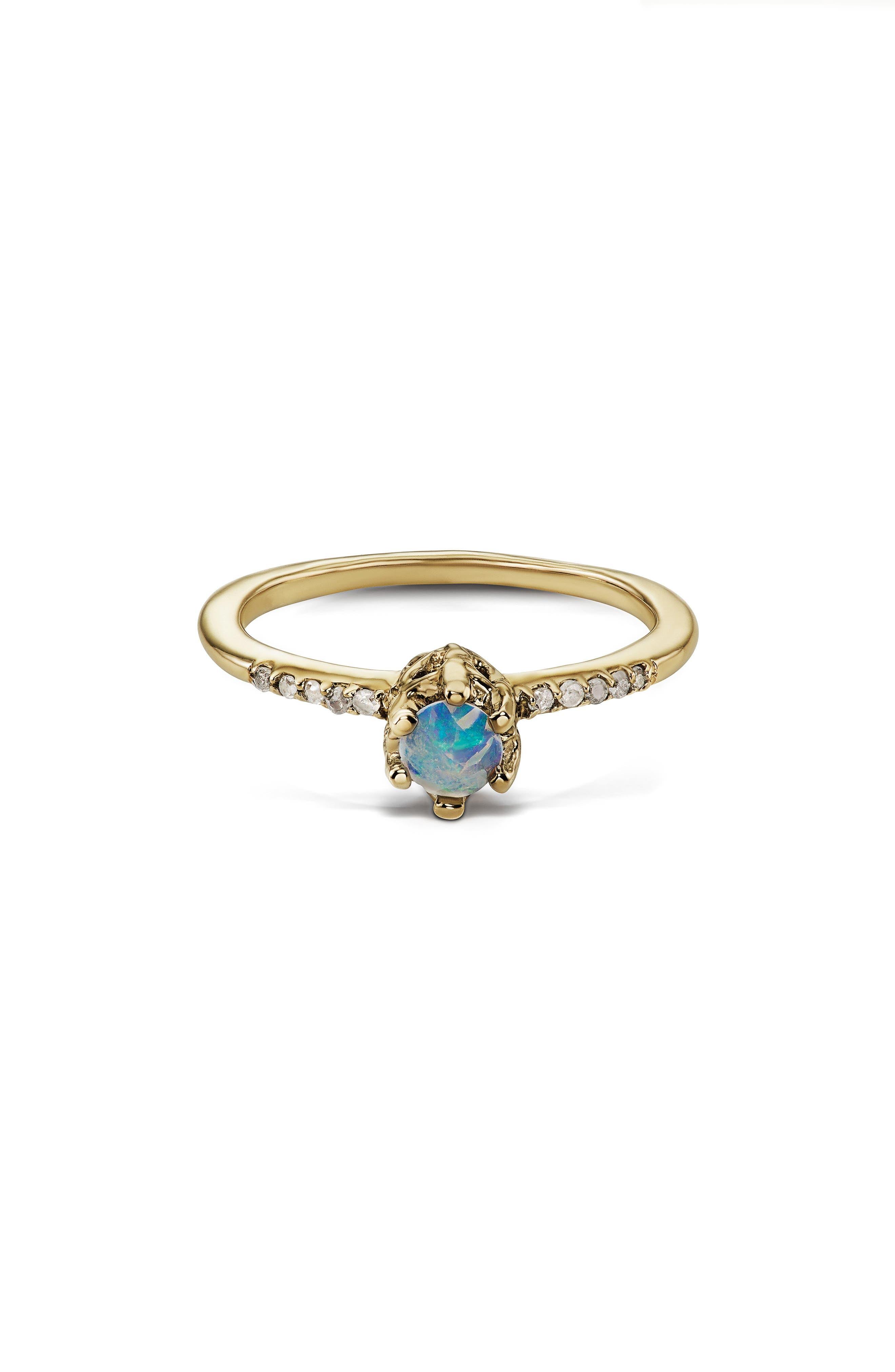 Alternate Image 3  - Maniamania Entity Opal & Diamond Solitaire Ring