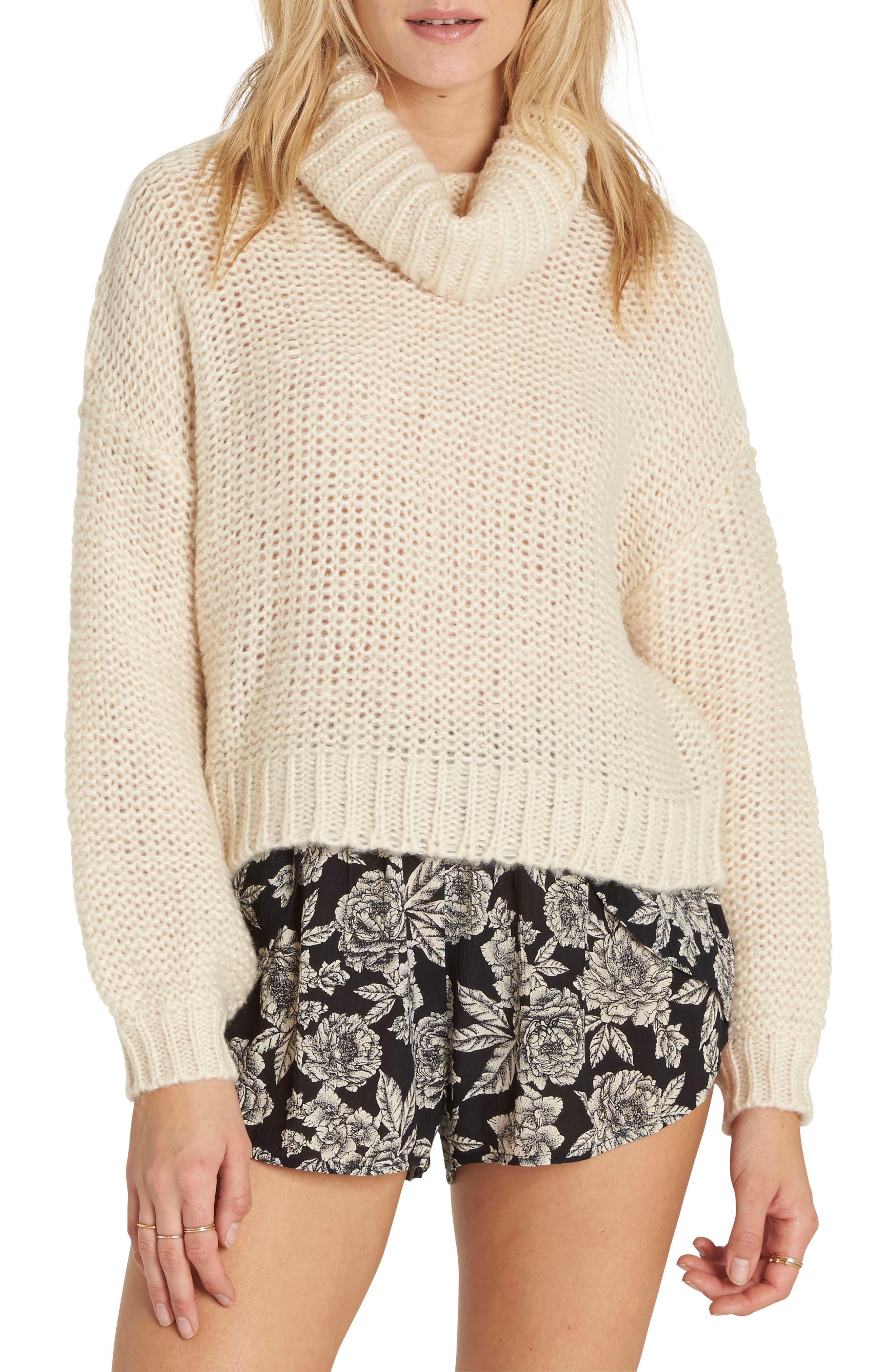 Alternate Image 1 Selected - Billabong Stay Here Turtleneck Sweater