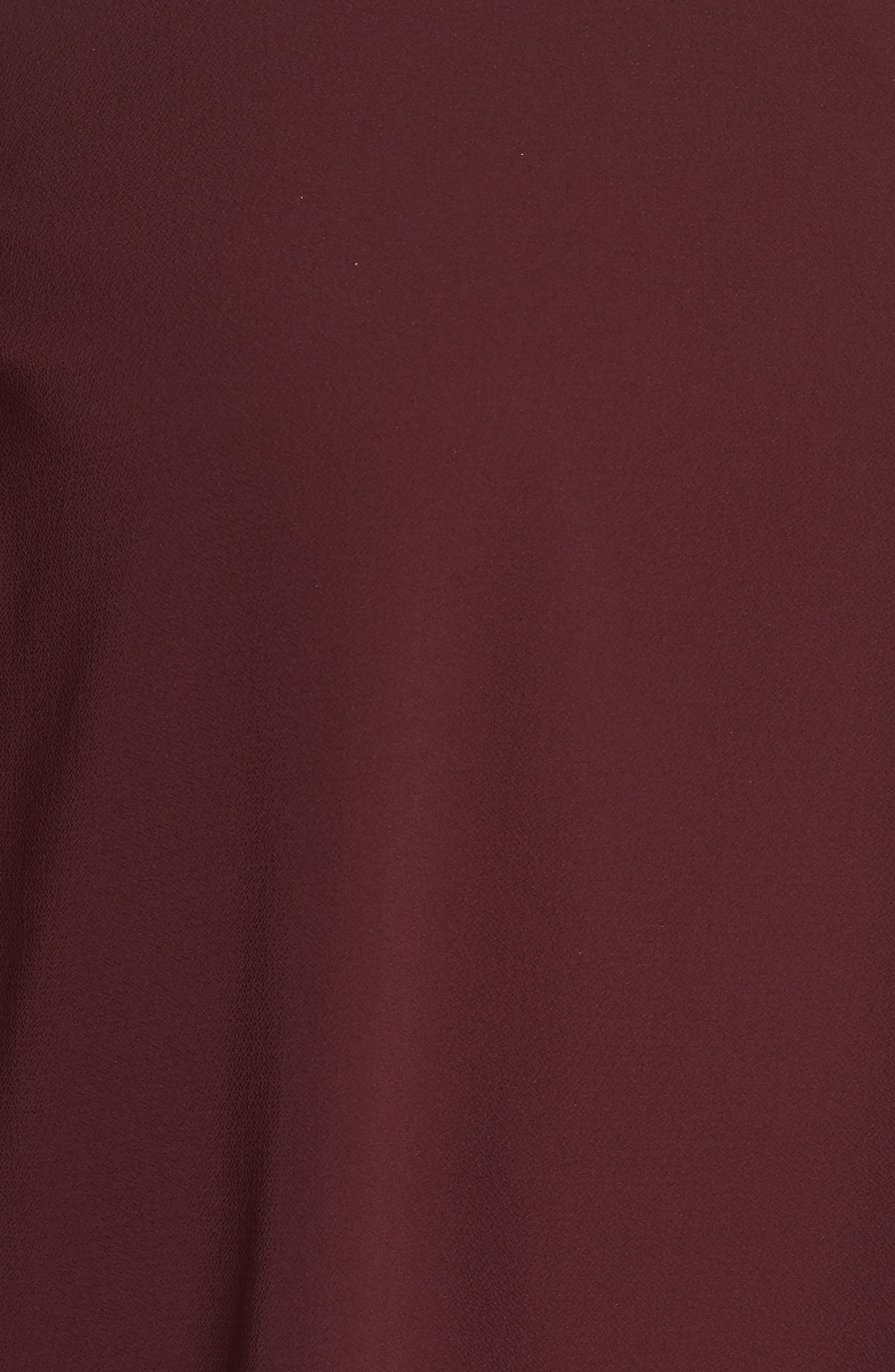 Pleated Bell Sleeve High/Low Shirt,                             Alternate thumbnail 5, color,                             Deep Claret