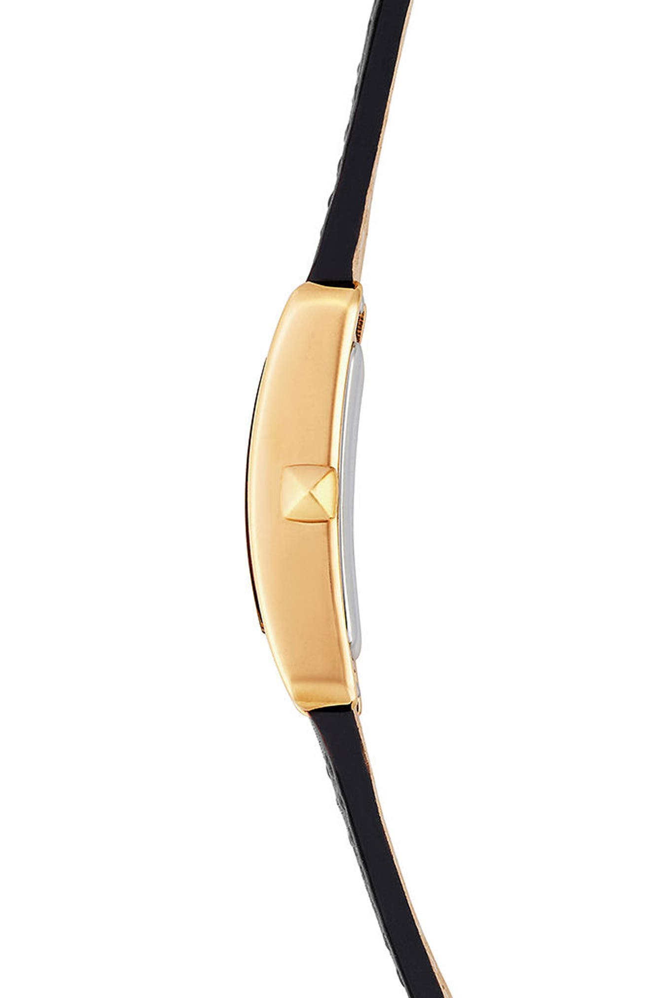 Alternate Image 2  - Rebecca Minkoff Moment Leather Strap Watch, 19mm x 30mm